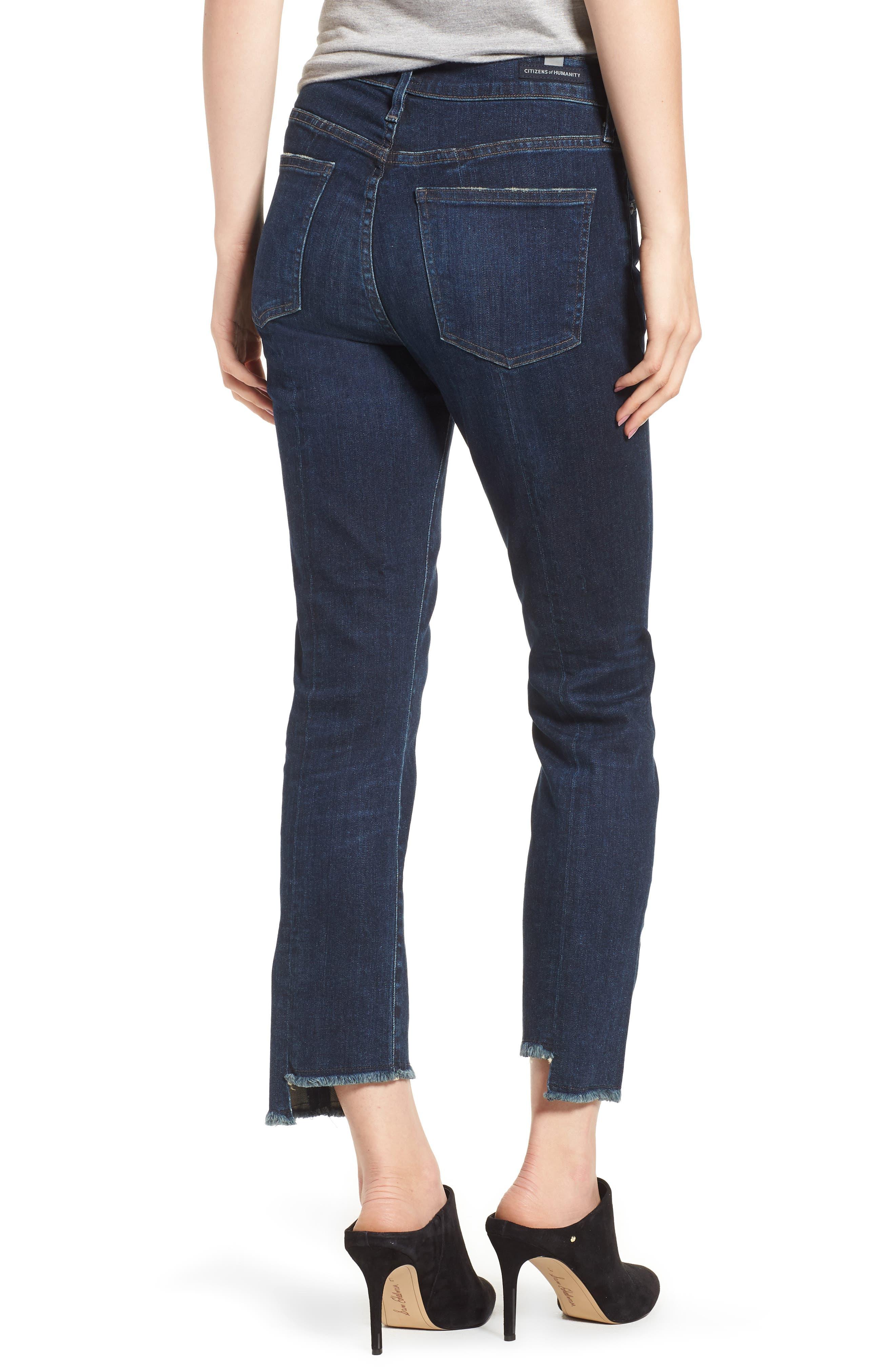 Amari Ankle Skinny Jeans,                             Alternate thumbnail 2, color,                             Maya