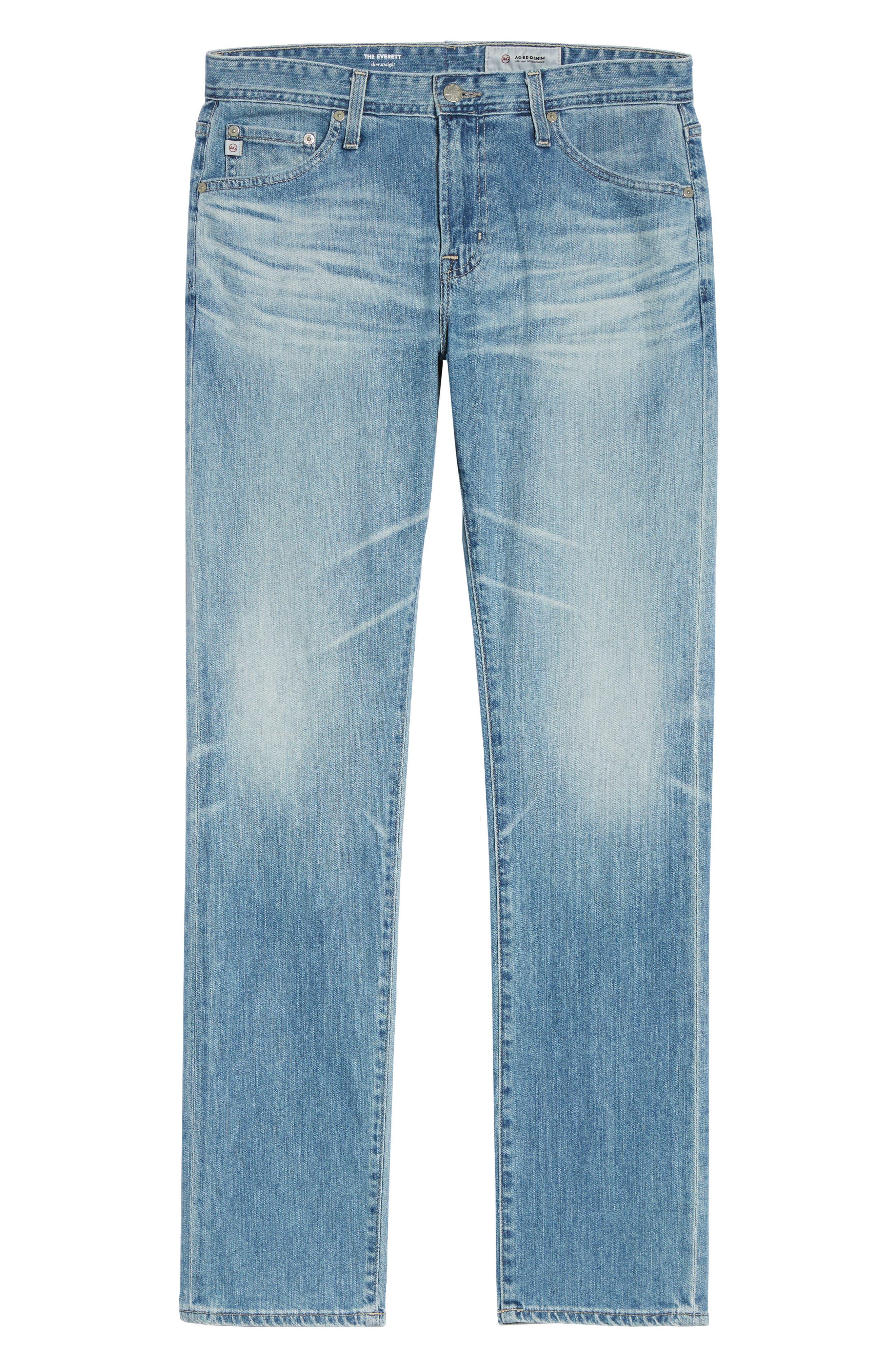 Everett Slim Straight Fit Jeans,                             Alternate thumbnail 6, color,                             18 Years Oceano