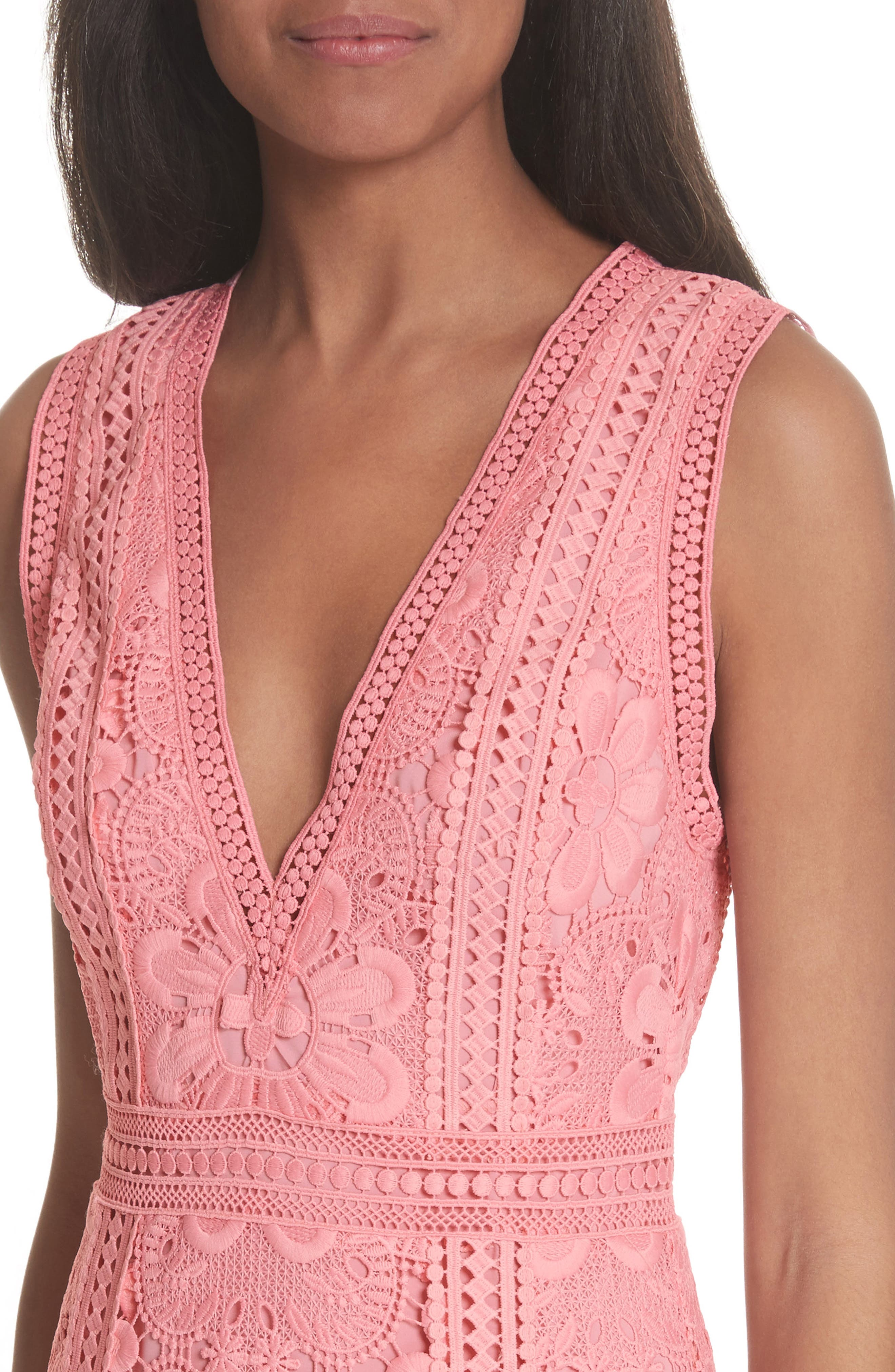 Zula Lace Minidress,                             Alternate thumbnail 4, color,                             Blossom
