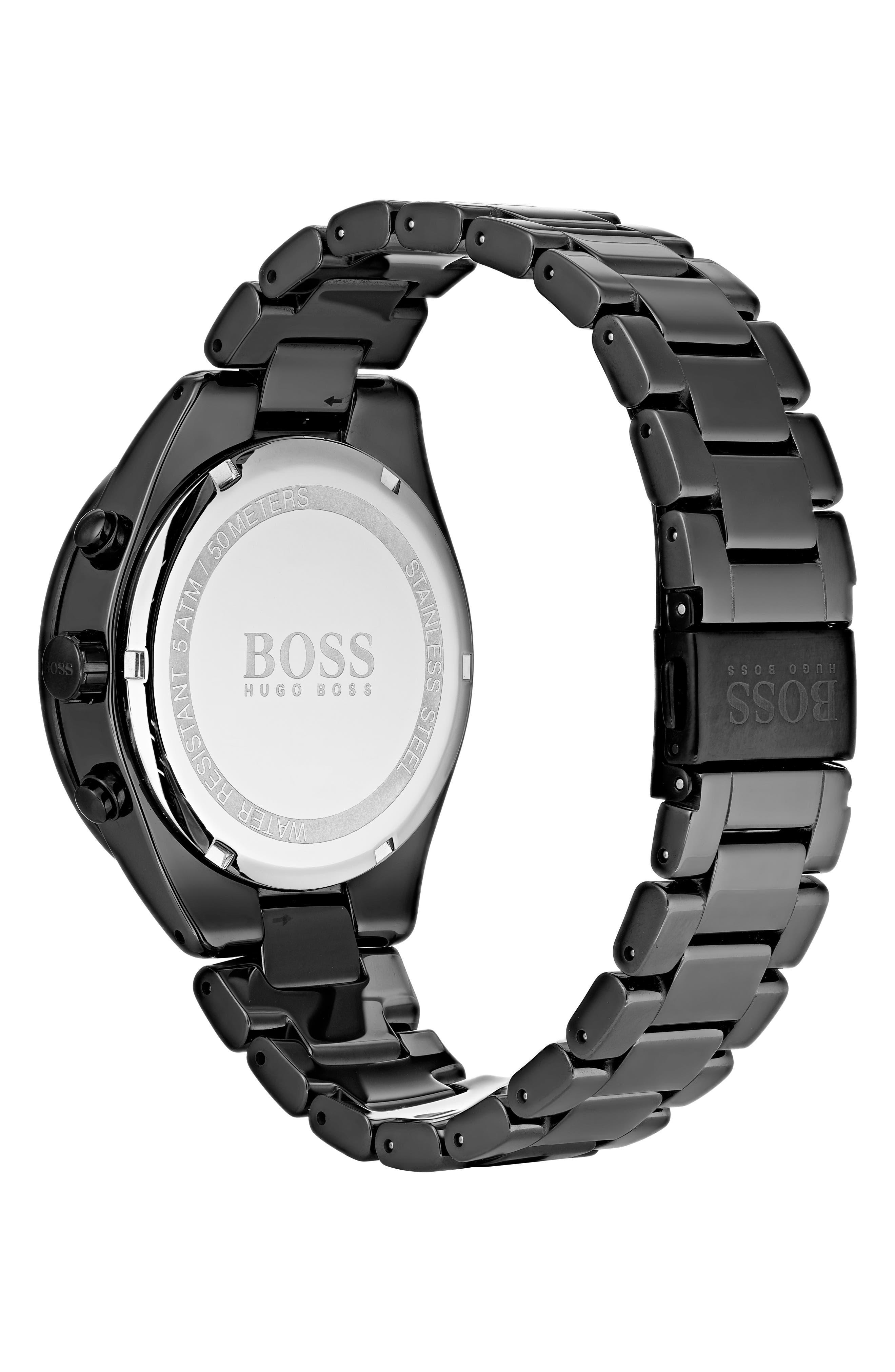 Talent Chronograph Bracelet Watch, 42mm,                             Alternate thumbnail 2, color,                             Black