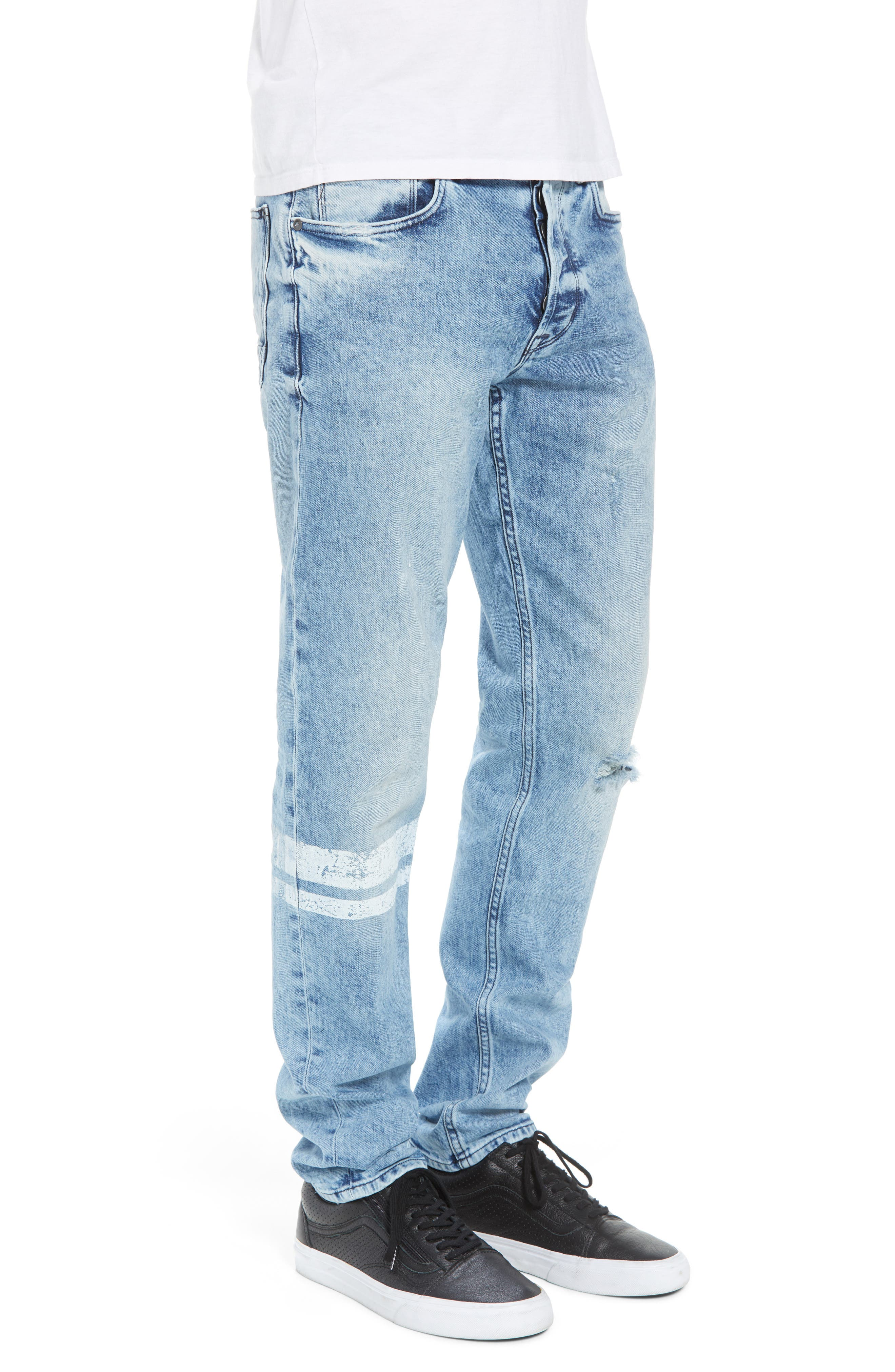 Sartor Slouchy Skinny Fit Jeans,                             Alternate thumbnail 3, color,                             Wild Nothing