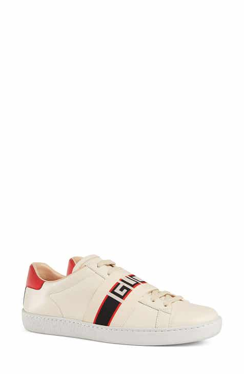 eaaf4fb0f84 Gucci New Ace Logo Strap Sneaker (Women)