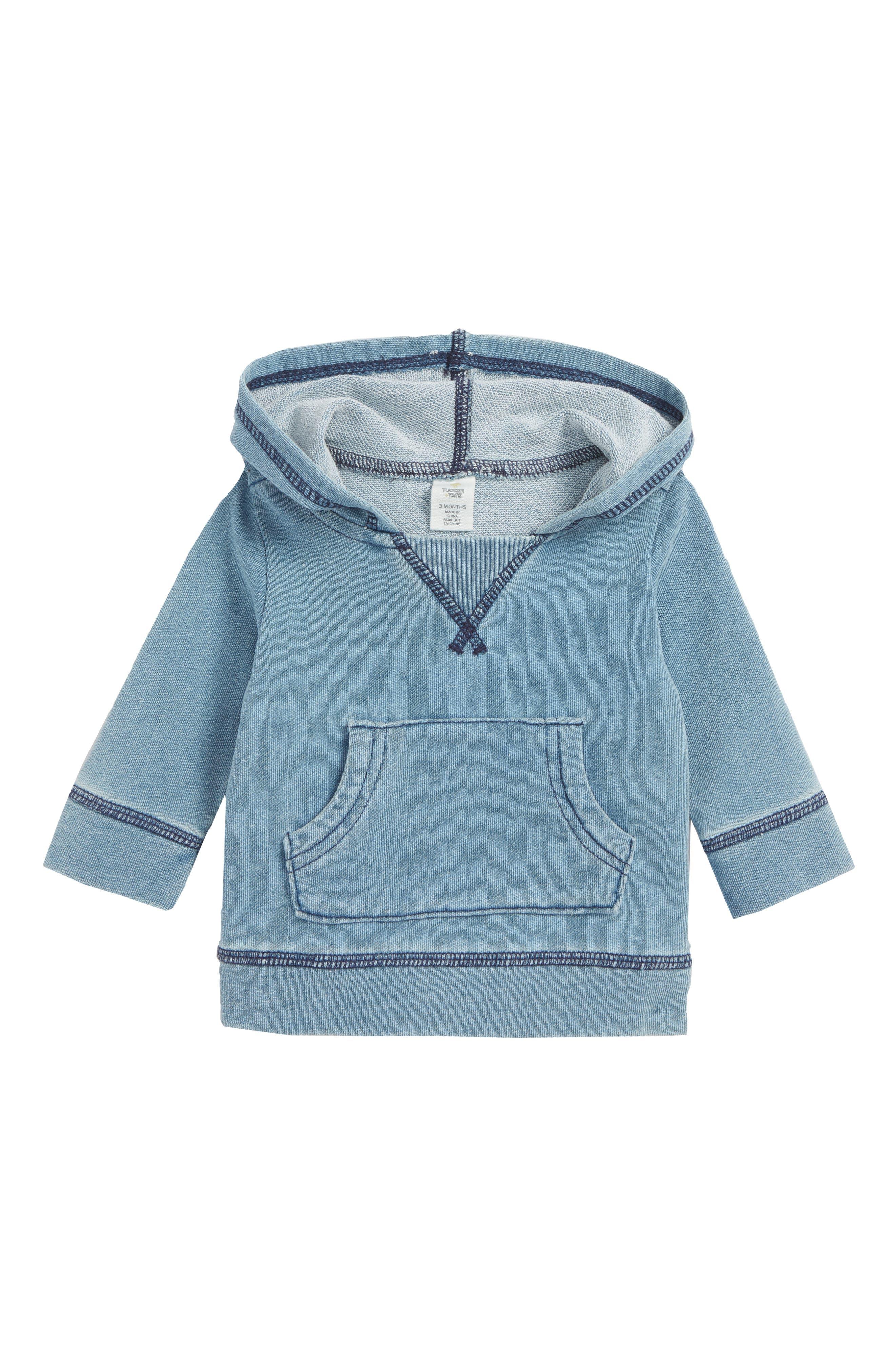 Hooded Pullover,                         Main,                         color, Blue Indigo