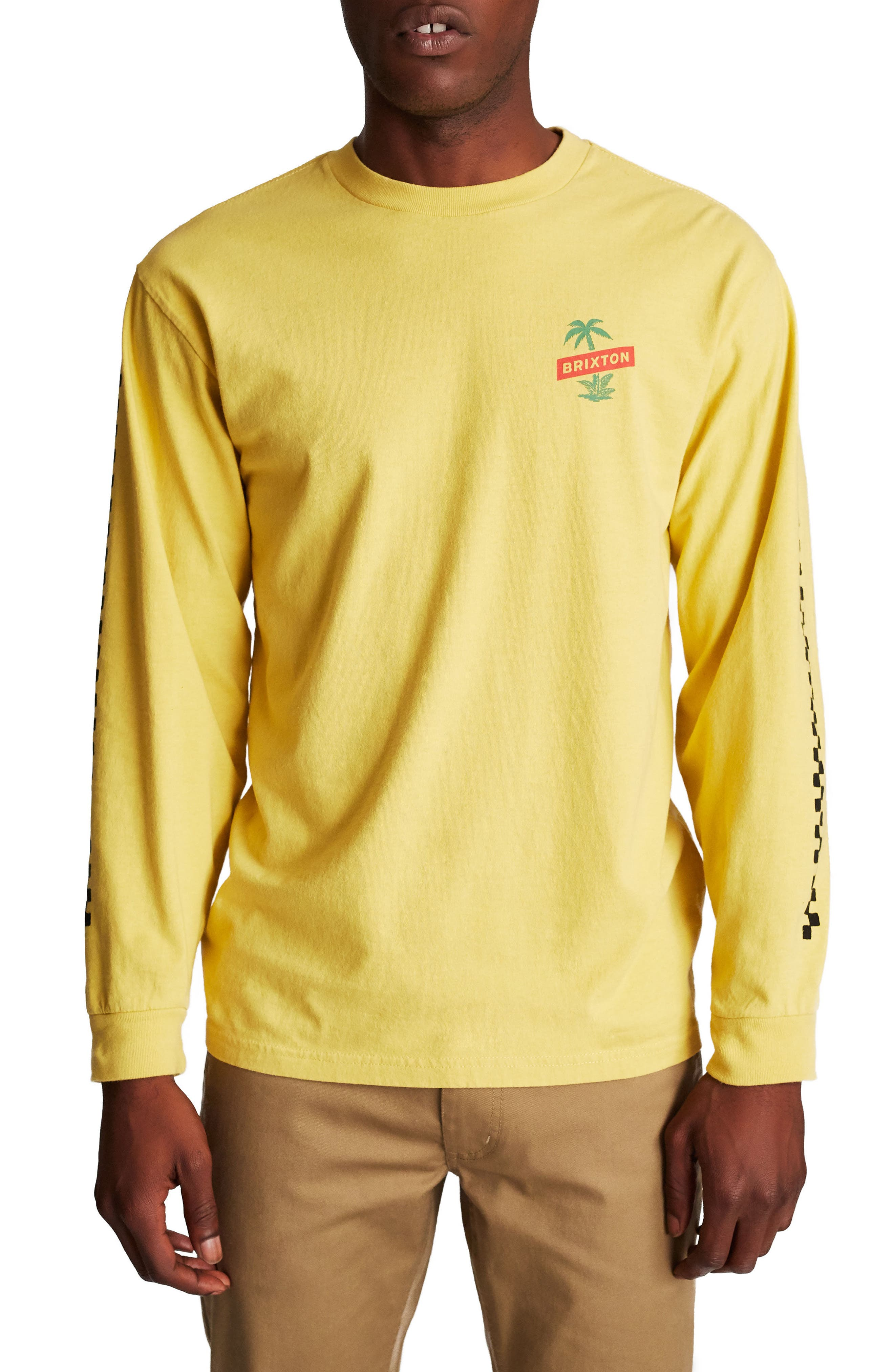 Tosh Long Sleeve T-Shirt,                         Main,                         color, Washed Yellow