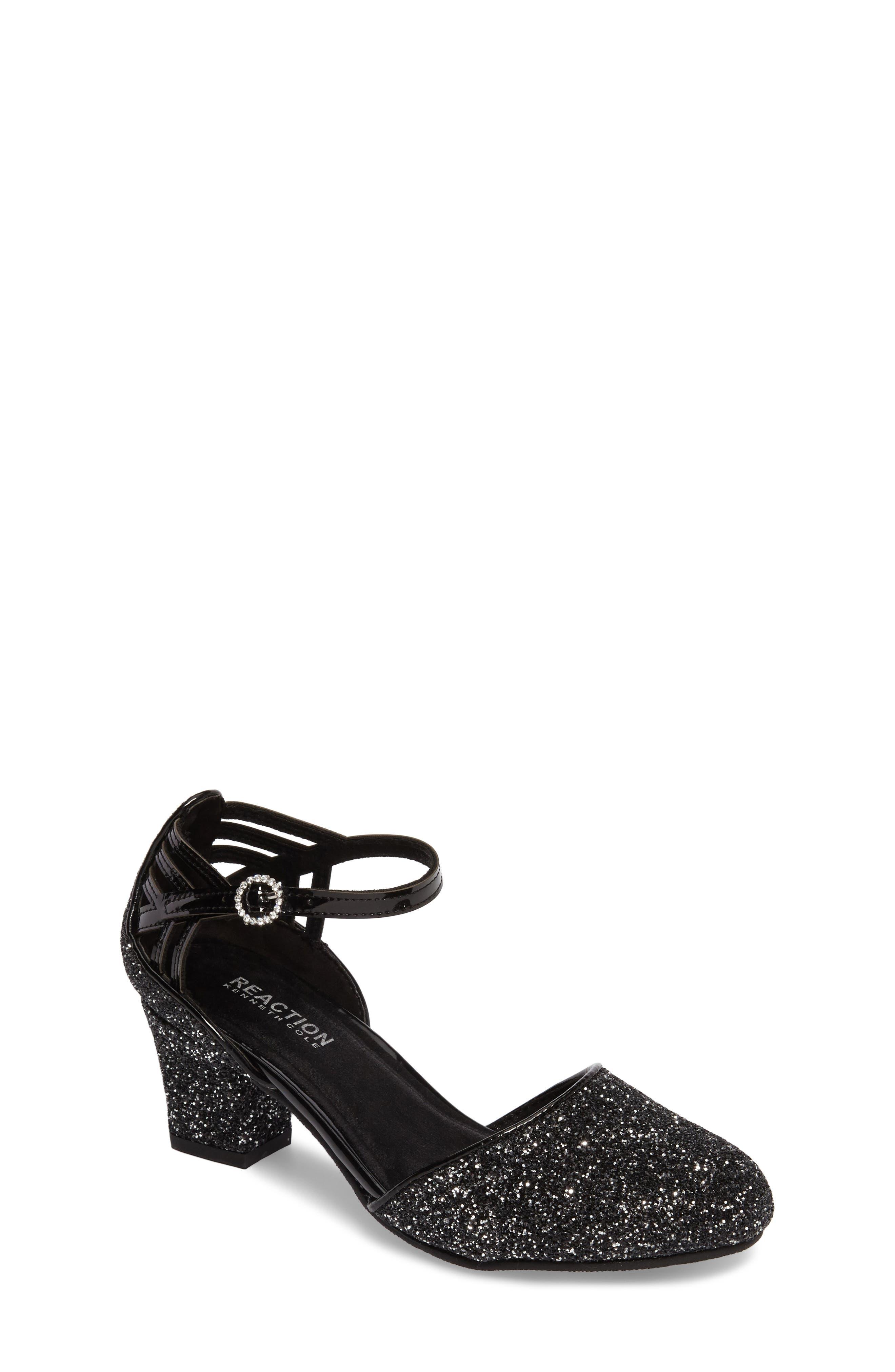 Kenneth Cole New York Sarah Shine Pump,                         Main,                         color, Black Glitter