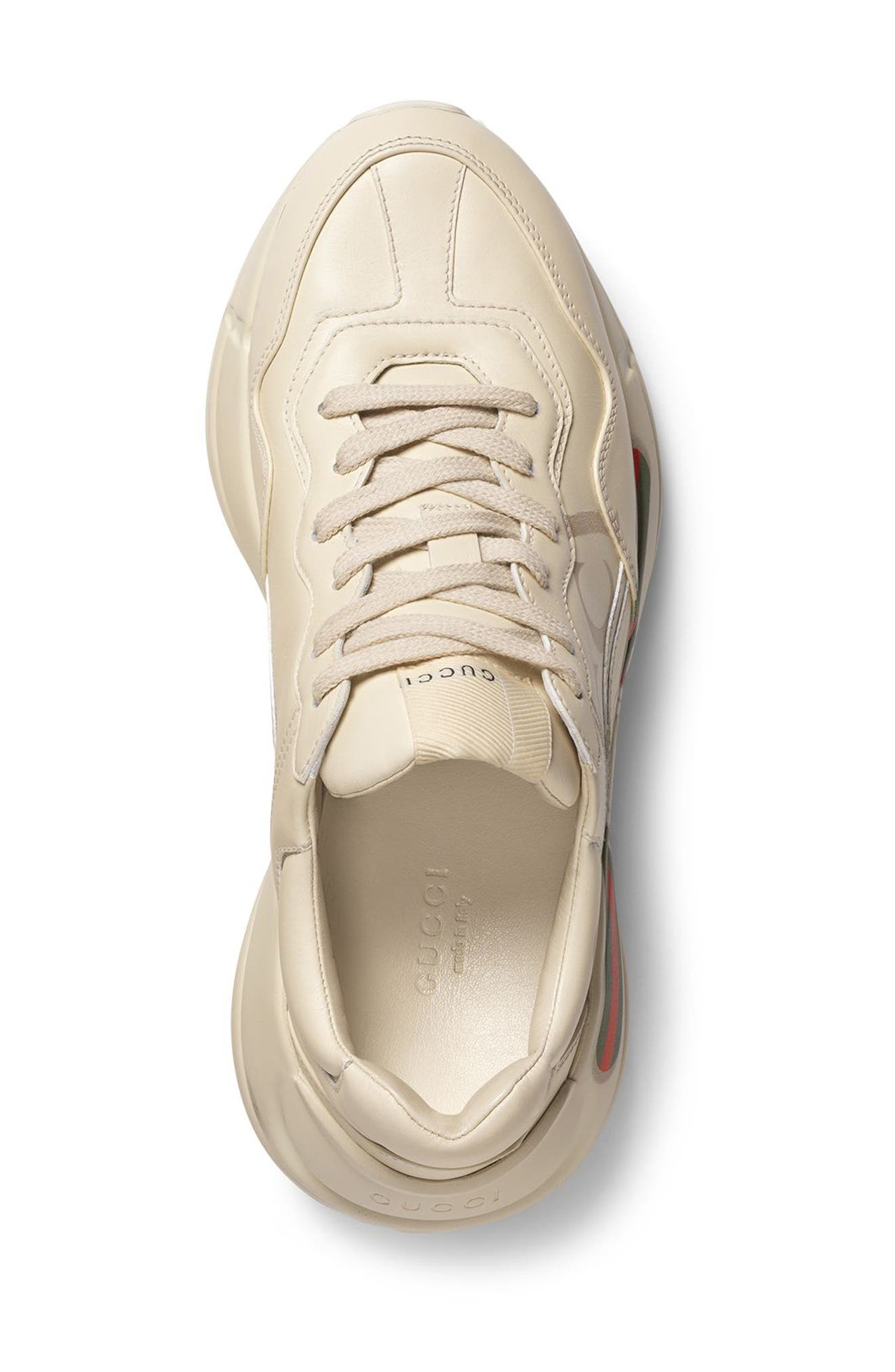 Rhyton Logo Sneaker,                             Alternate thumbnail 3, color,                             Ivory