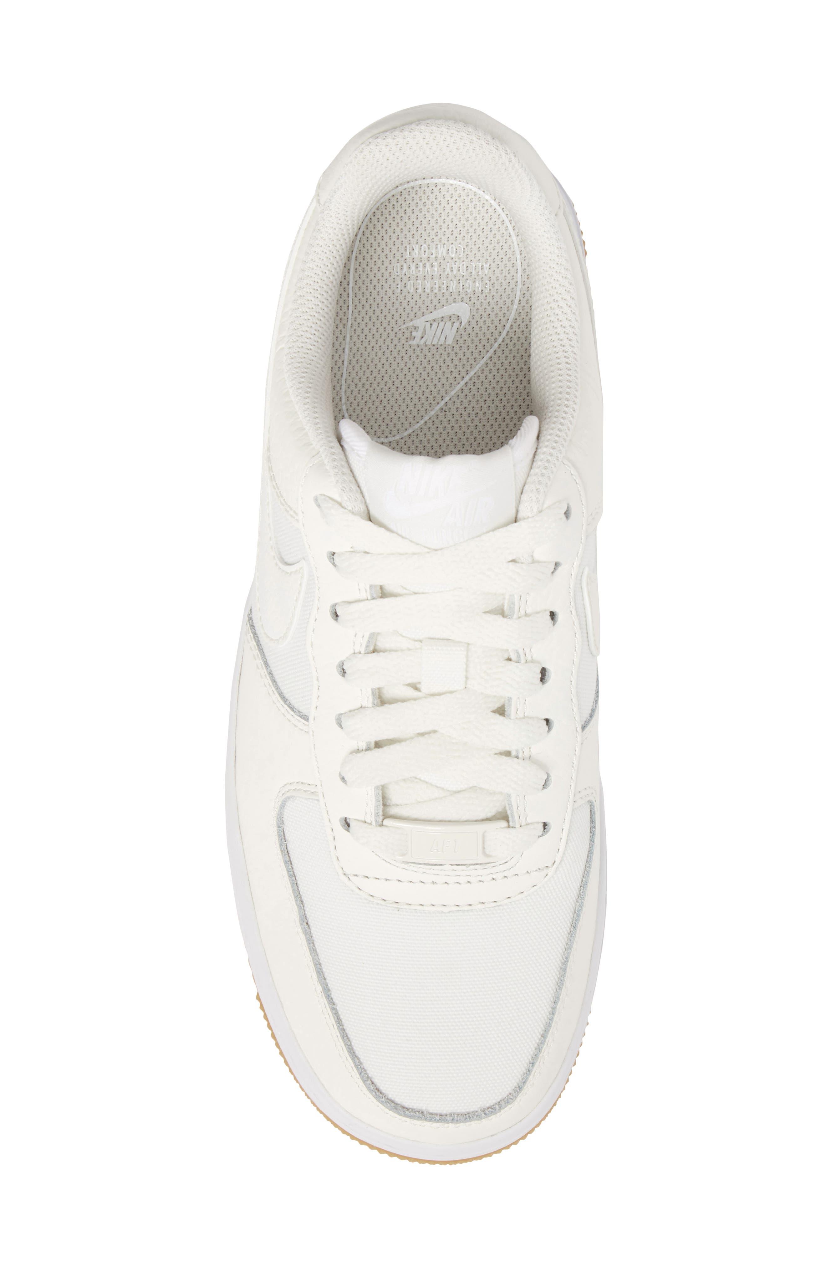 Air Force 1 '07 Premium Sneaker,                             Alternate thumbnail 5, color,                             Sail/ White/ Light Brown
