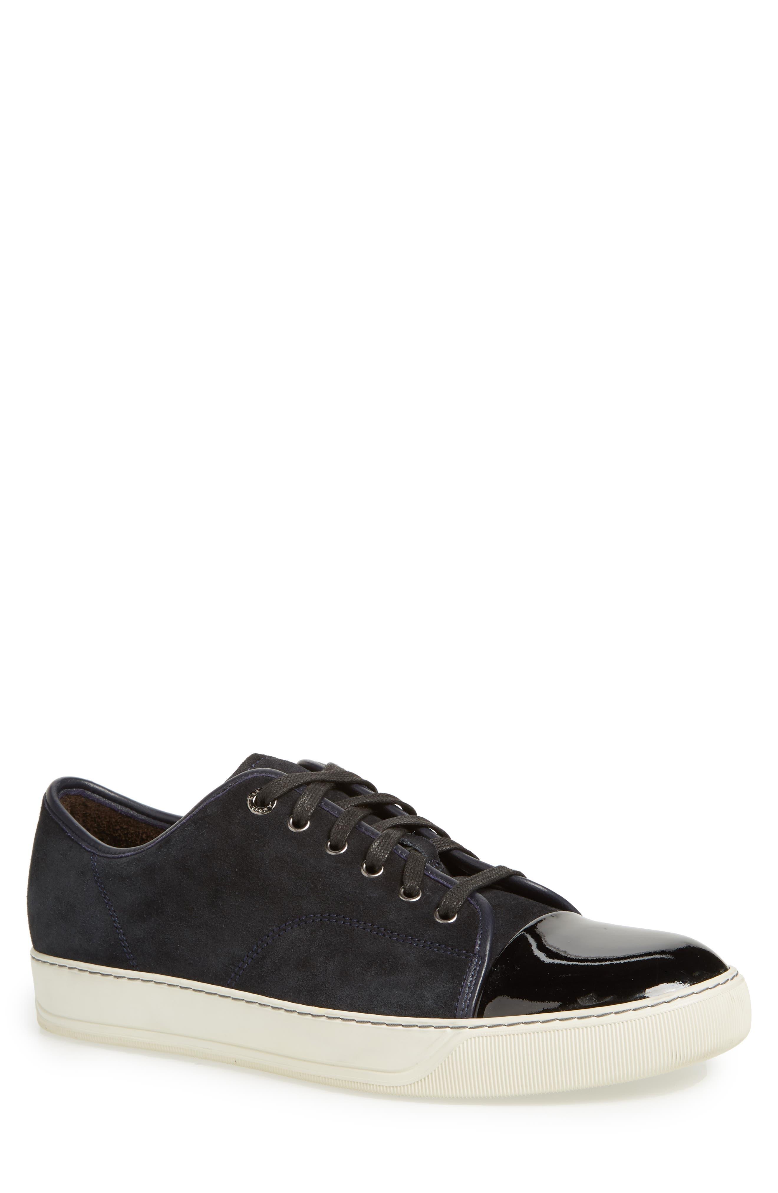 BLACK Laceup sneakers Lanvin shop online CRGGEM MEN