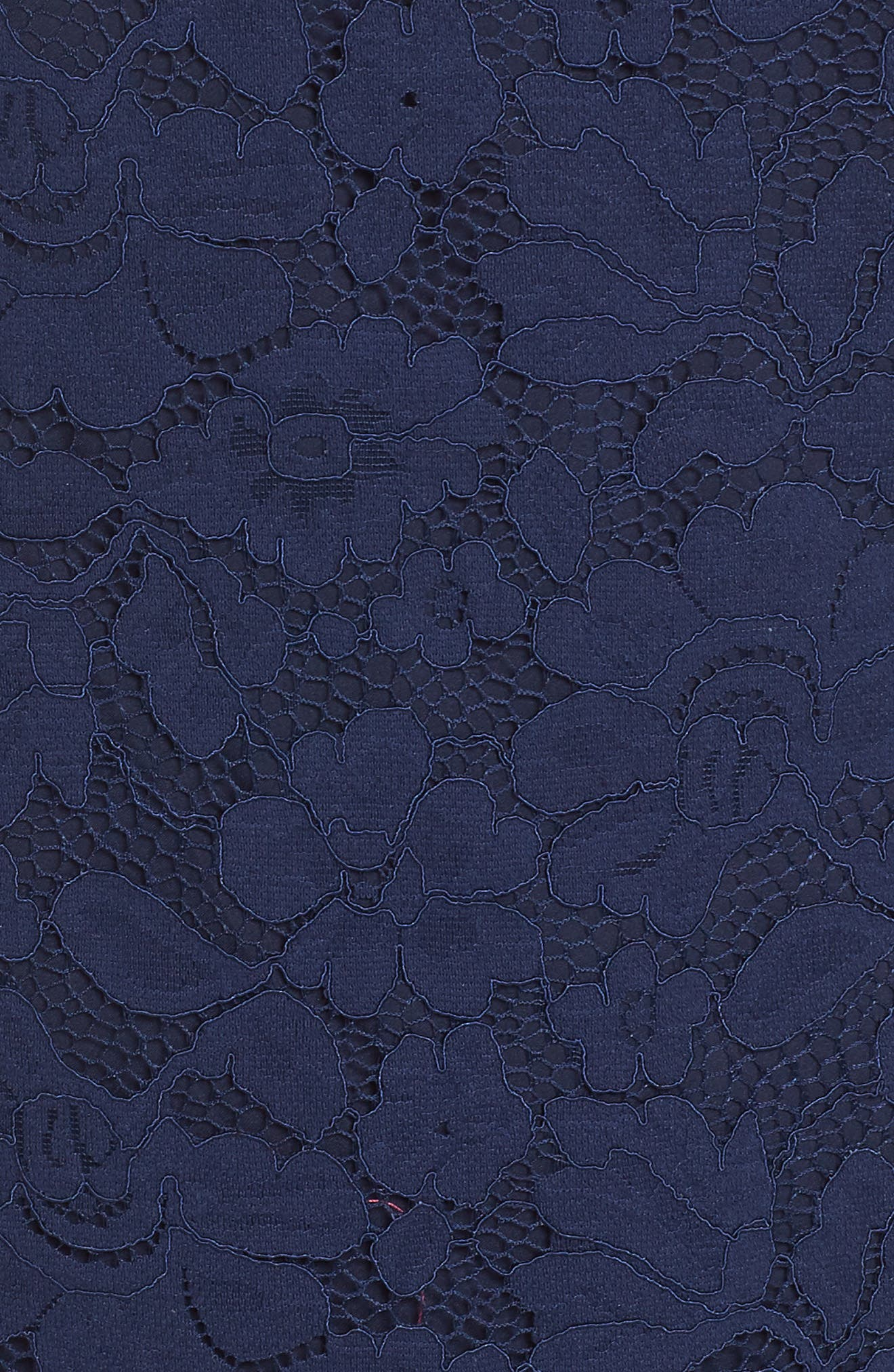 Lace Shift Dress,                             Alternate thumbnail 5, color,                             Navy