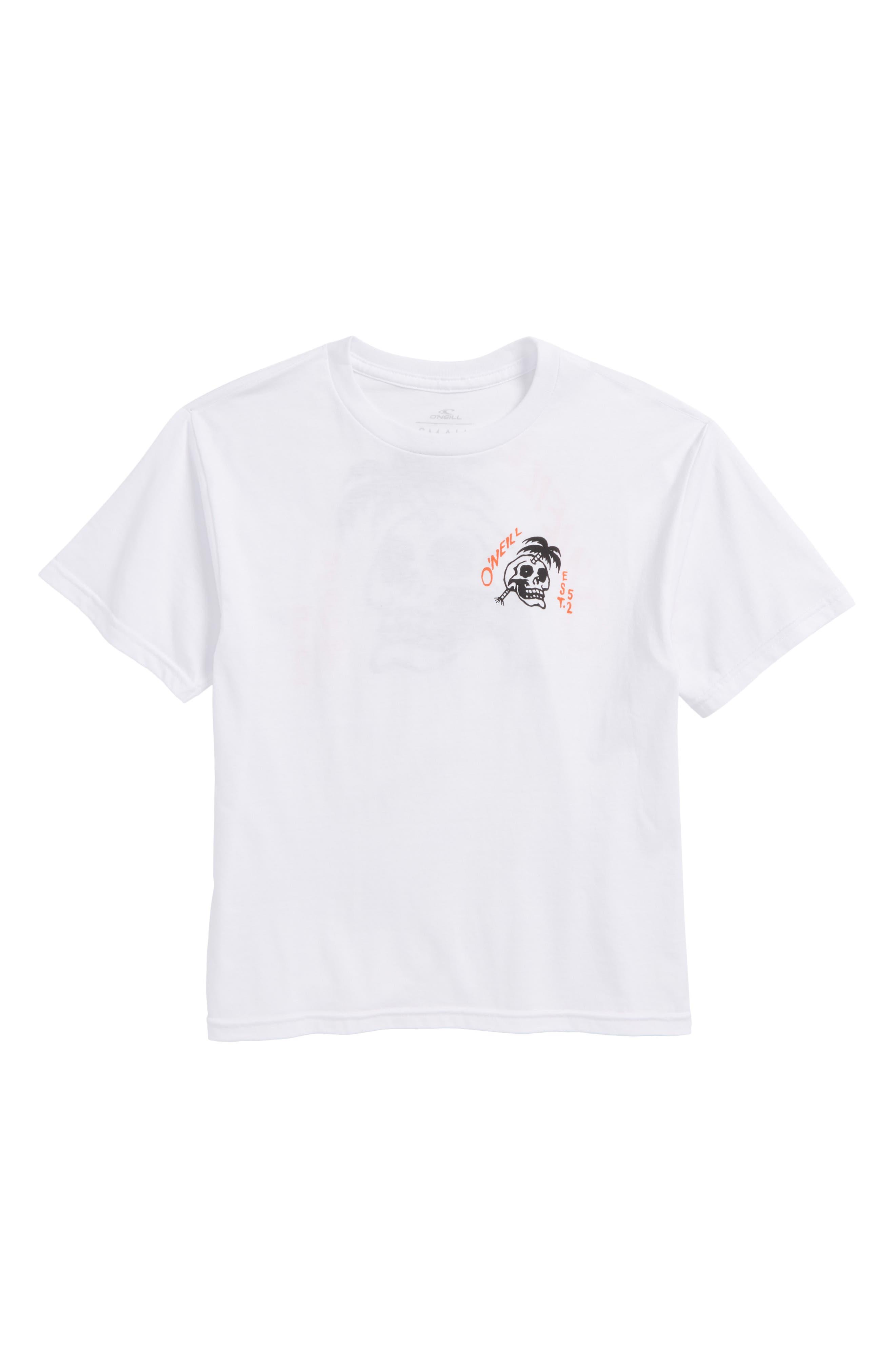 Palm Balm Graphic T-Shirt,                             Main thumbnail 1, color,                             White
