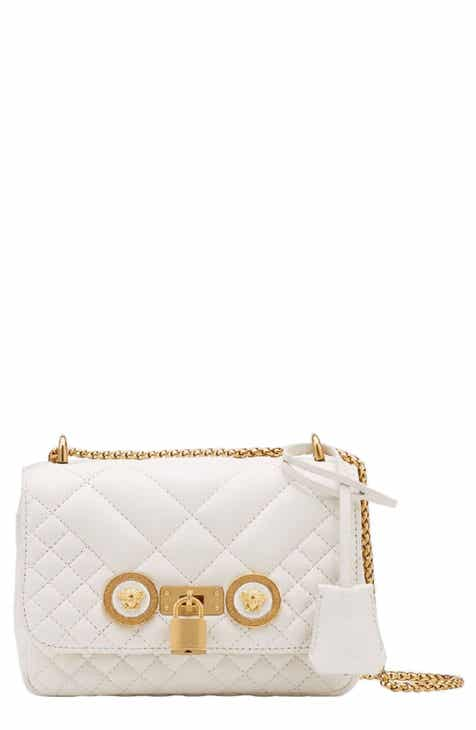 c43566a10cb Versace Icon Quilted Leather Crossbody Bag