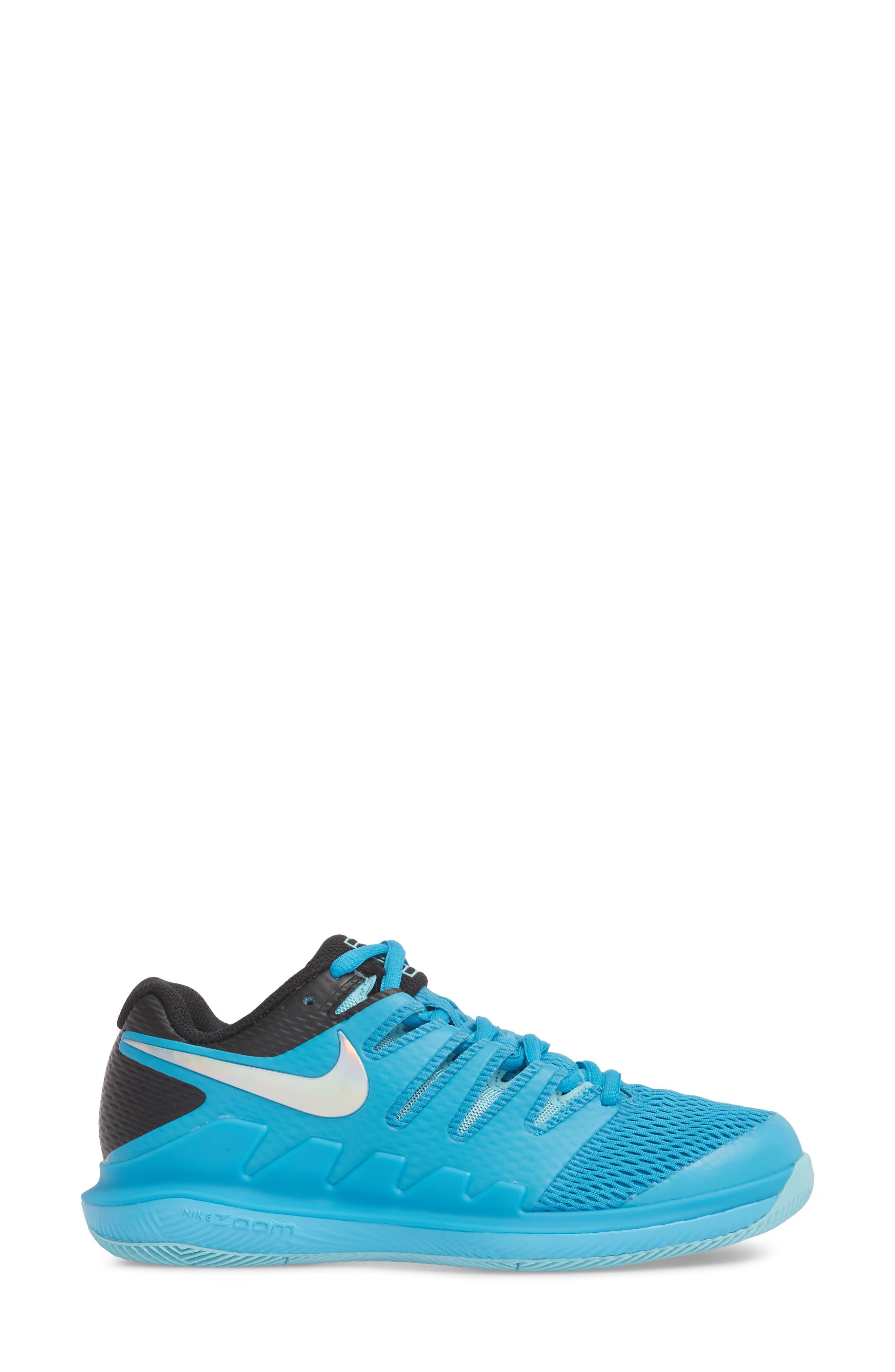 Air Zoom Vapor X Tennis Shoe,                             Alternate thumbnail 3, color,                             Light Blue Fury