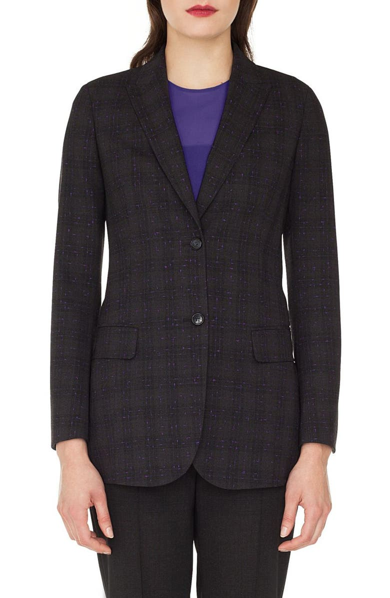 Speckled Wool Tweed Blazer