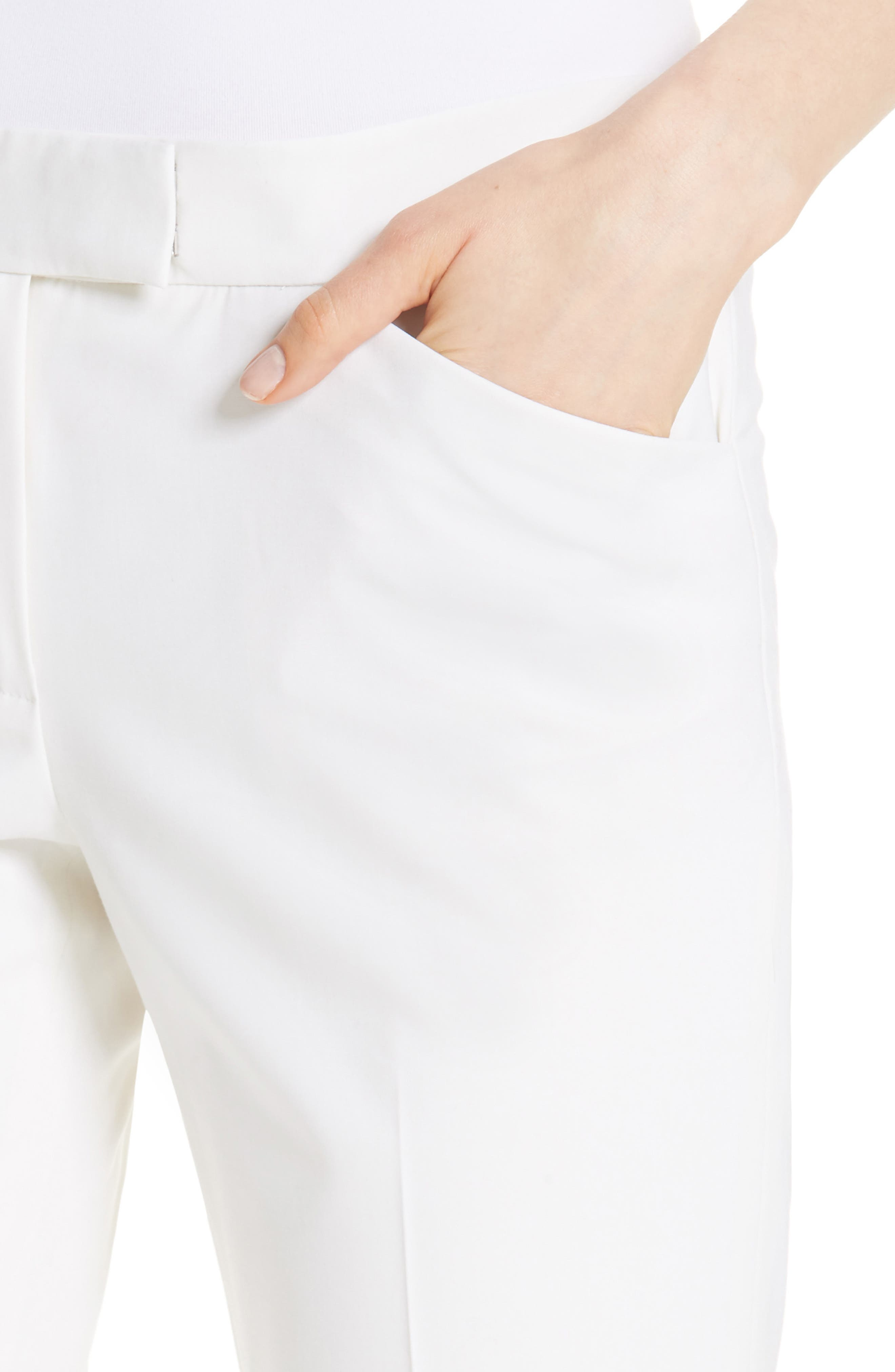 Irving Stretch Wool Pants,                             Alternate thumbnail 4, color,                             Ivory