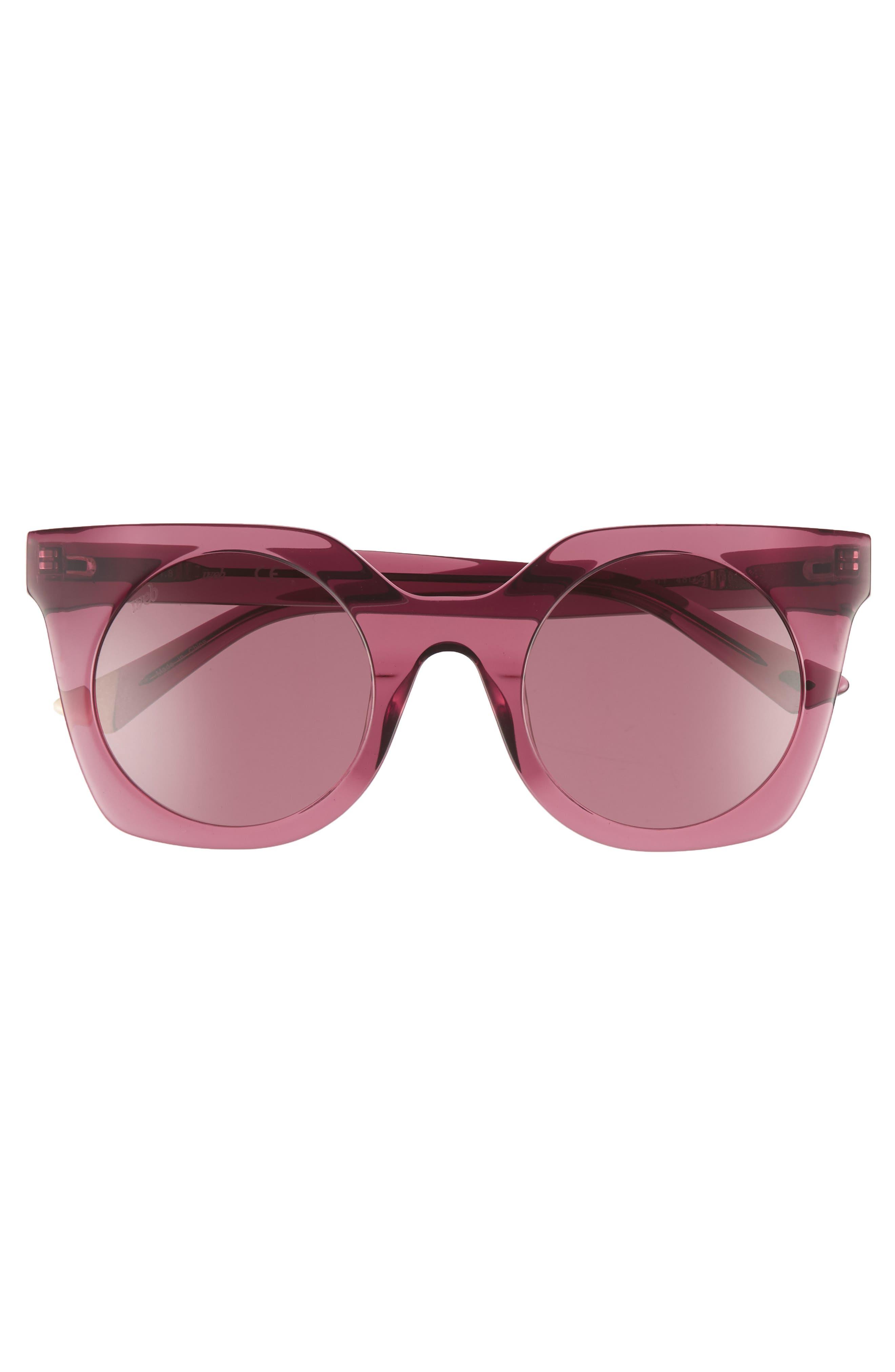 48mm Sunglasses,                             Alternate thumbnail 3, color,                             Shiny Violet/ Violet