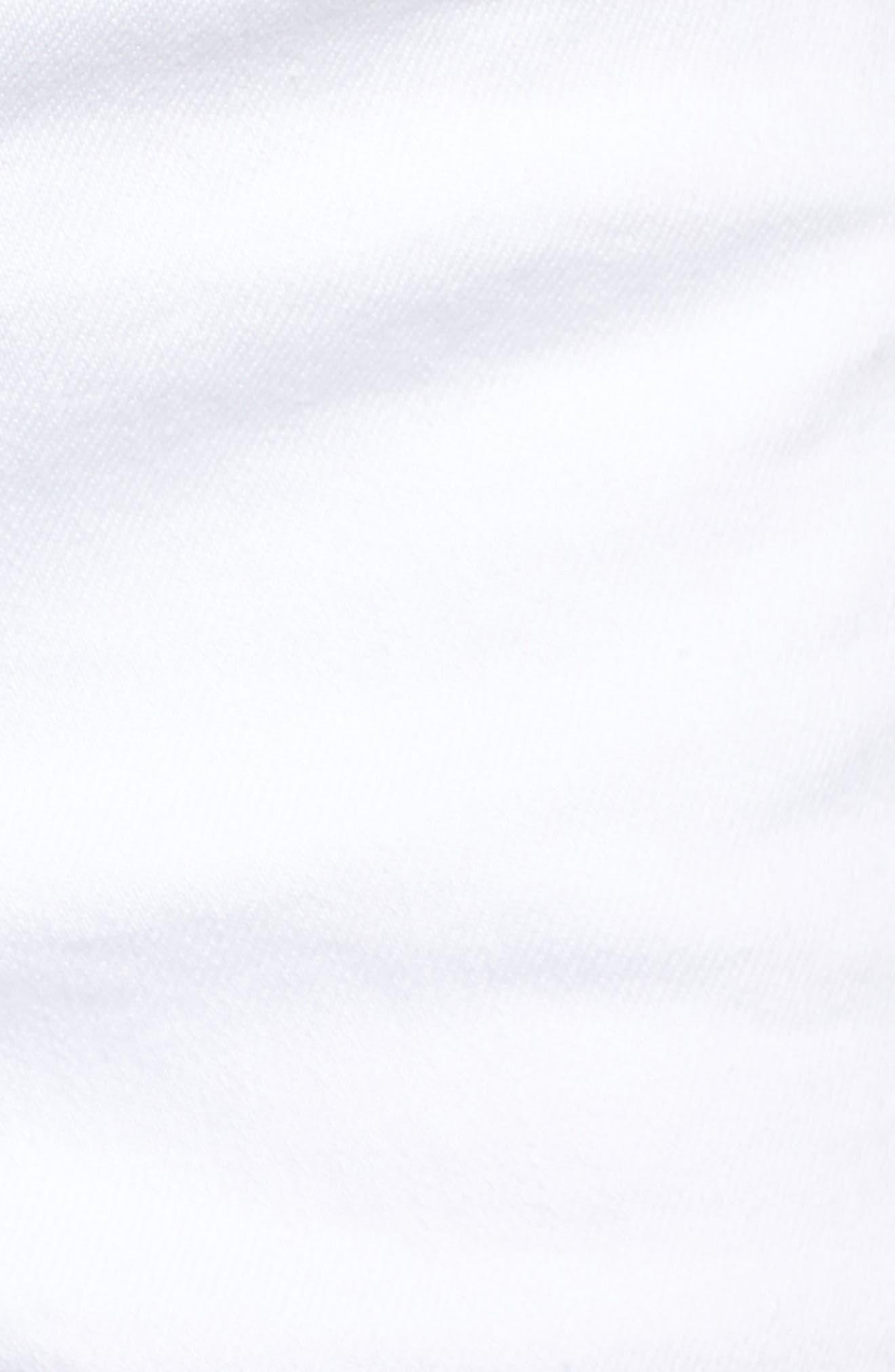 Embroidered Side Slit Shorts,                             Alternate thumbnail 5, color,                             Bright White