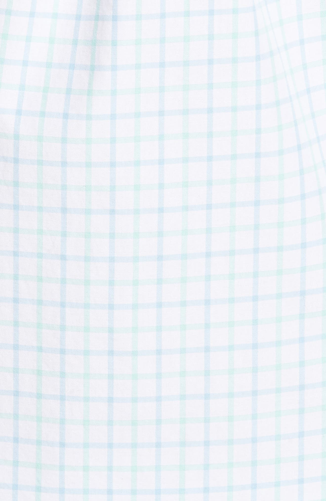 Crown Finish Wetland Tattersall Sport Shirt,                             Alternate thumbnail 5, color,                             Tar Heel Blue
