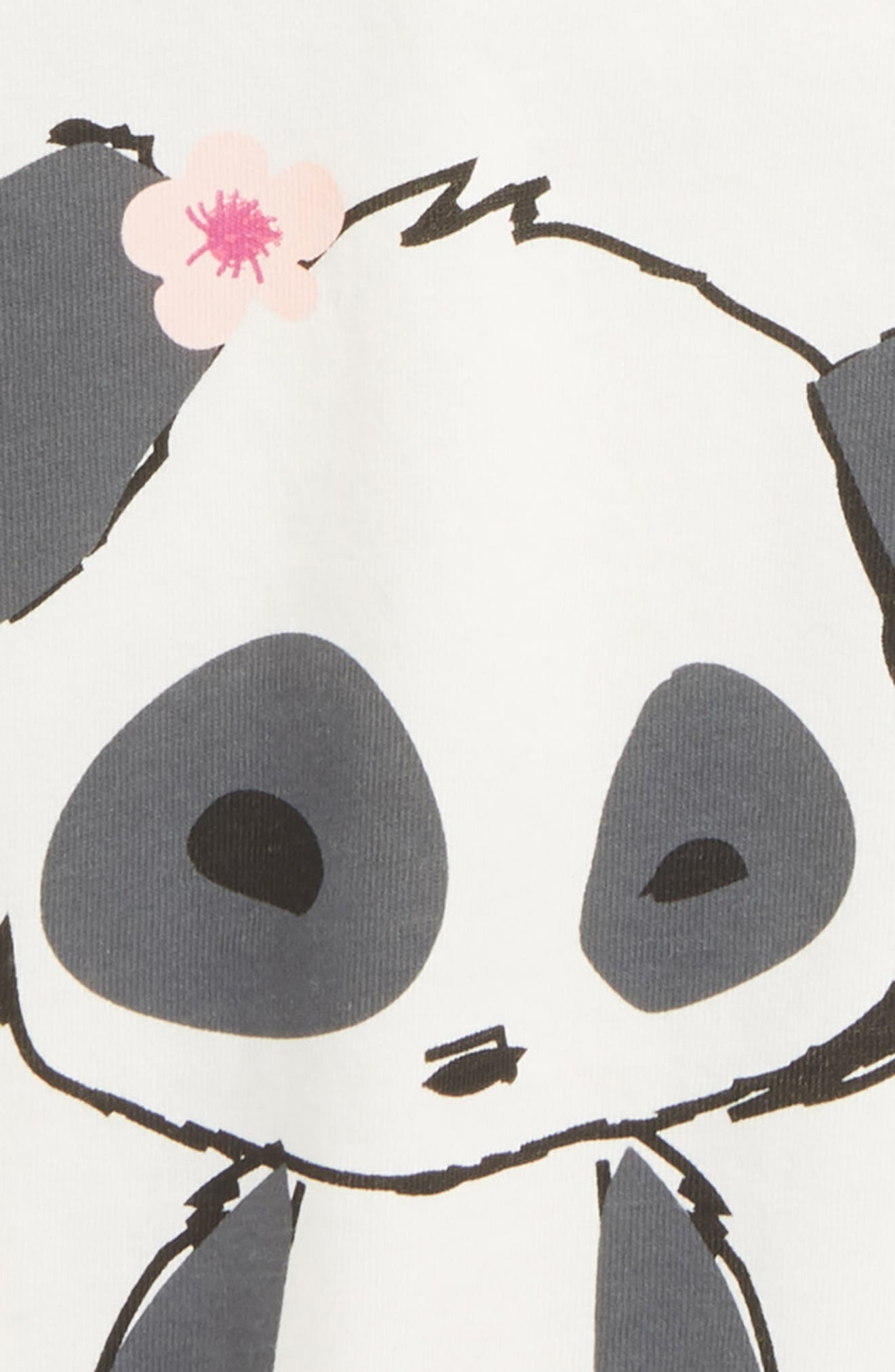 Little Panda Tee,                             Alternate thumbnail 3, color,                             Chalk