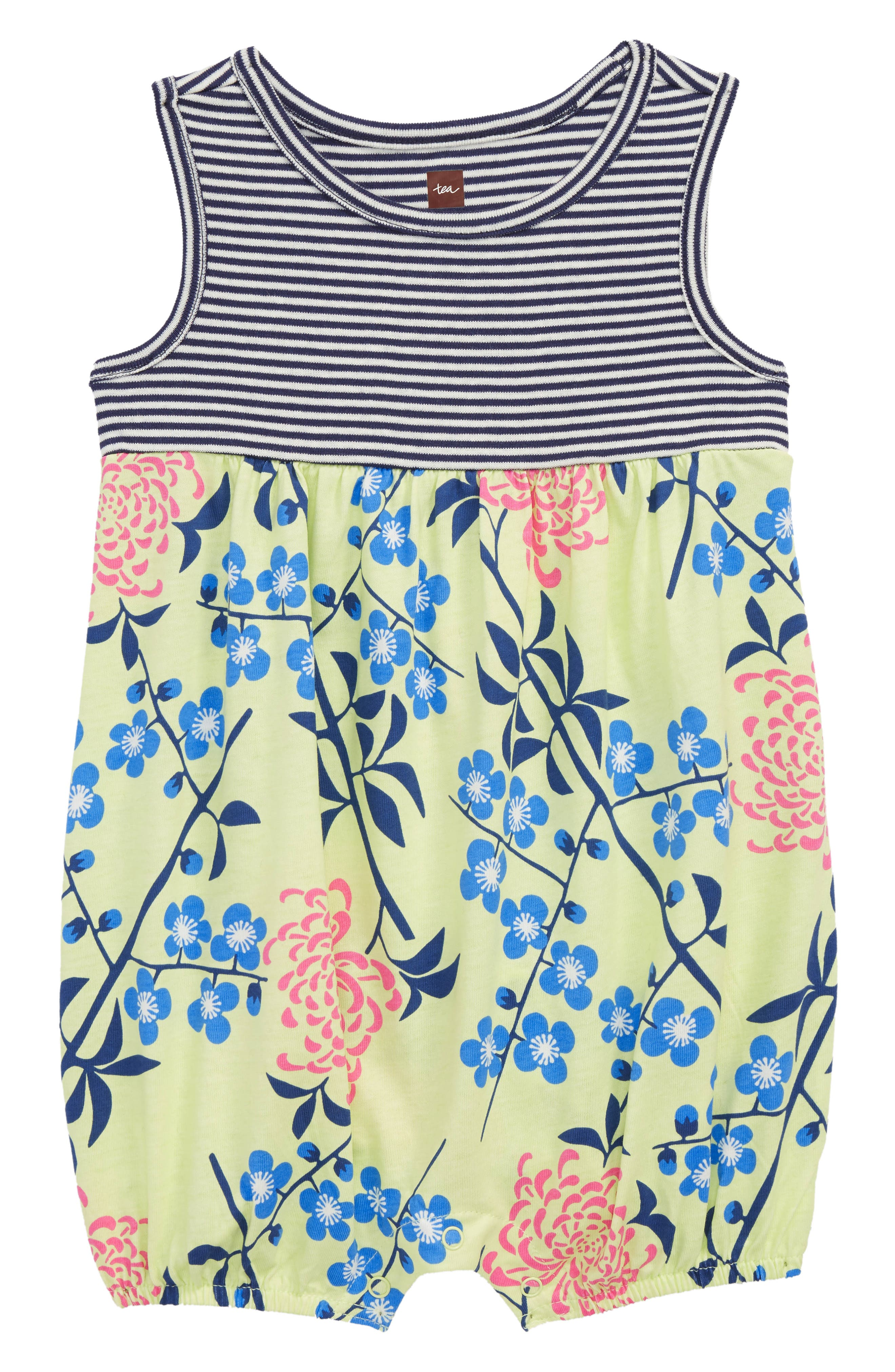 Tea Collection Mix Print Romper (Baby Girls)