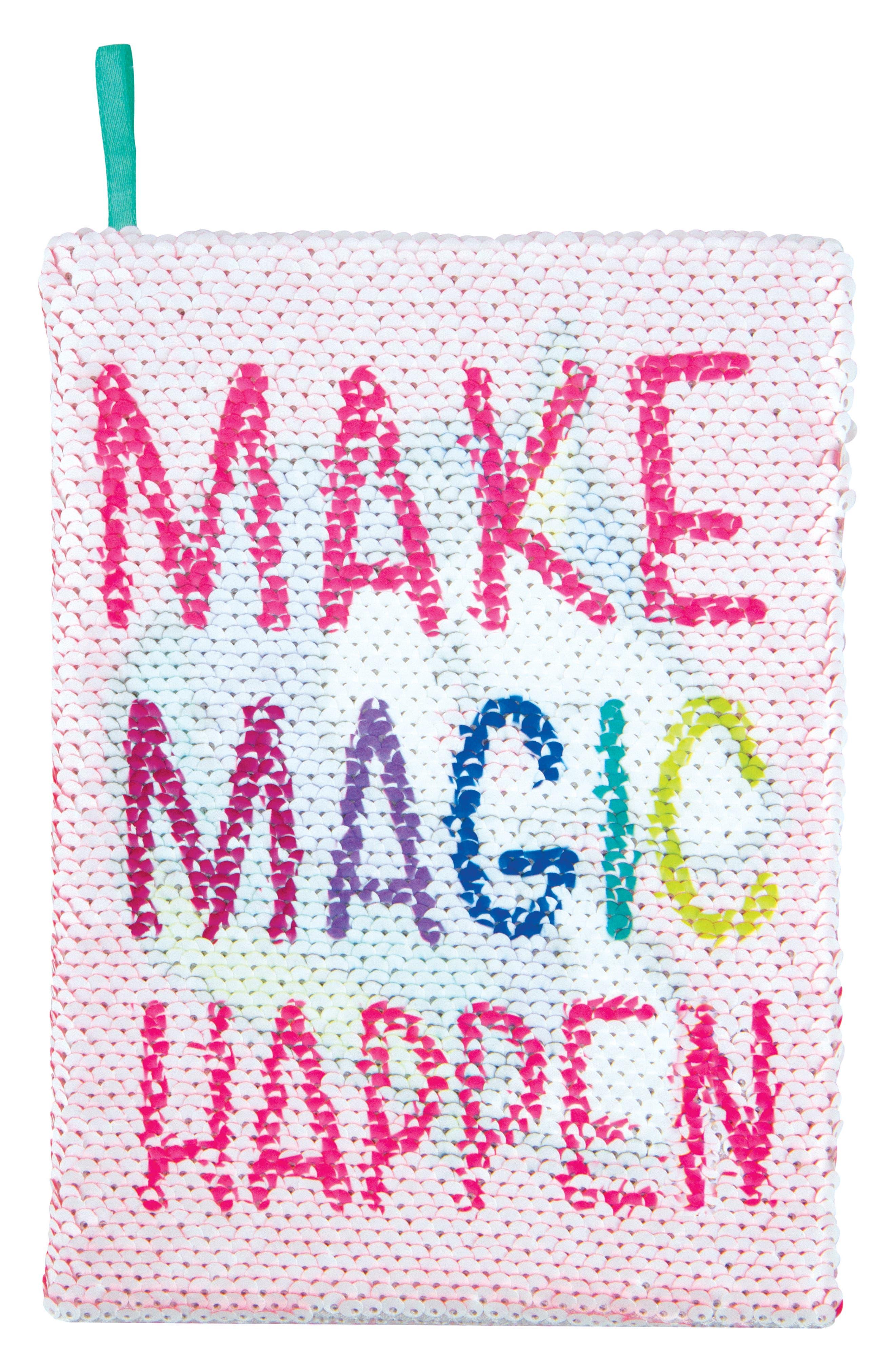 Unicorns Make Magic Happen Magic Sequin Reveal Journal,                             Alternate thumbnail 2, color,                             No Color