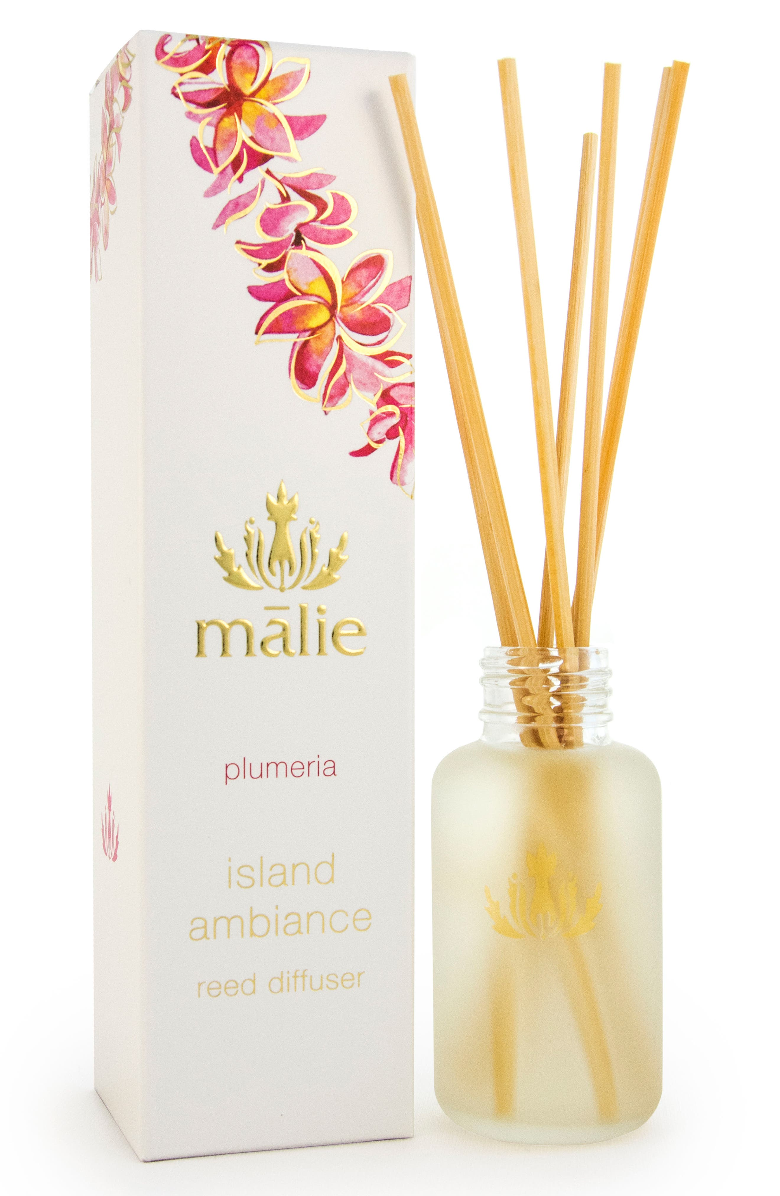 Island Ambience<sup>™</sup> Plumeria Reed Diffuser,                             Main thumbnail 1, color,                             No Color