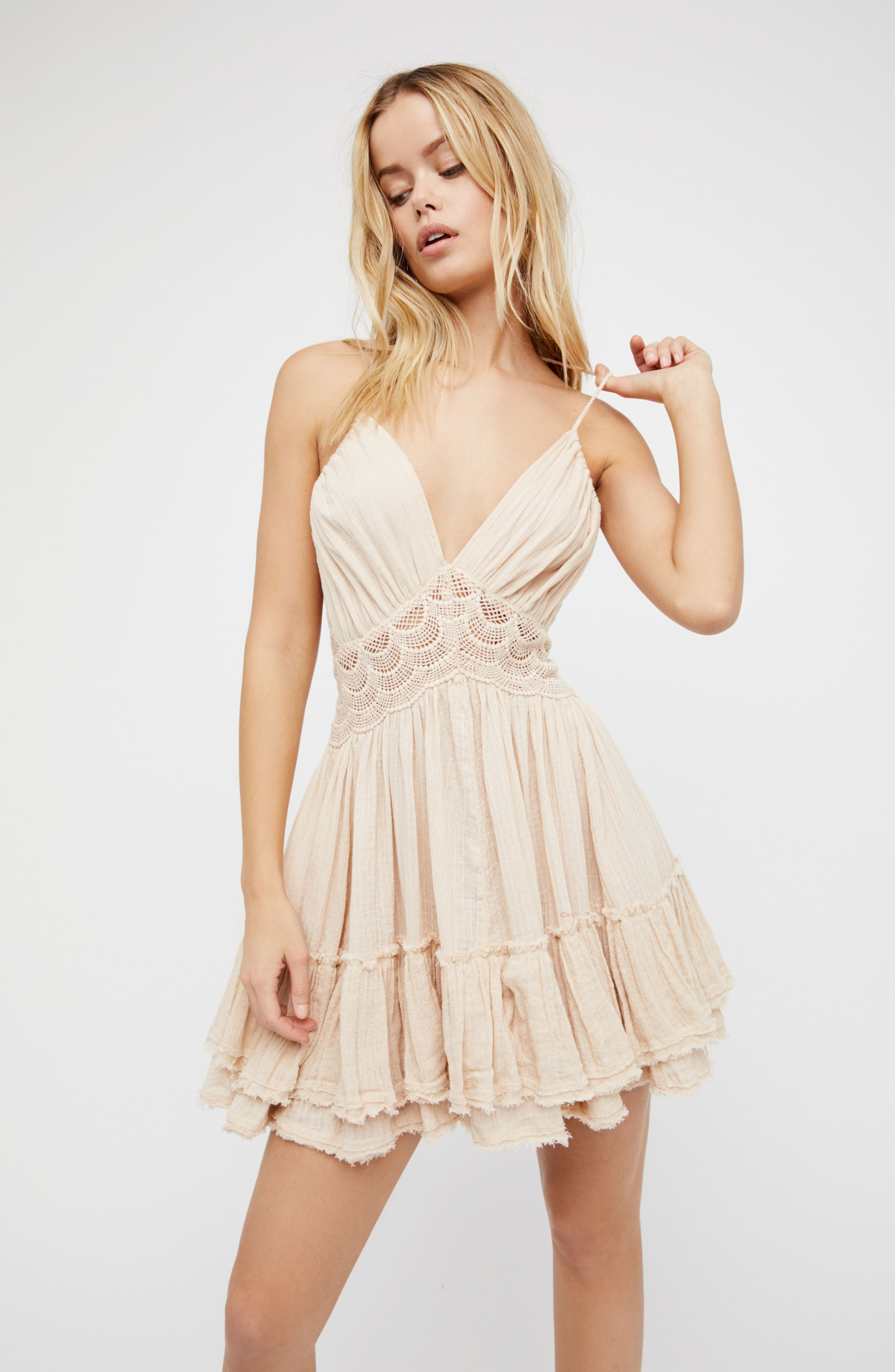 Endless Summer by Free People 200 Degree Minidress,                             Alternate thumbnail 2, color,                             Light Grey