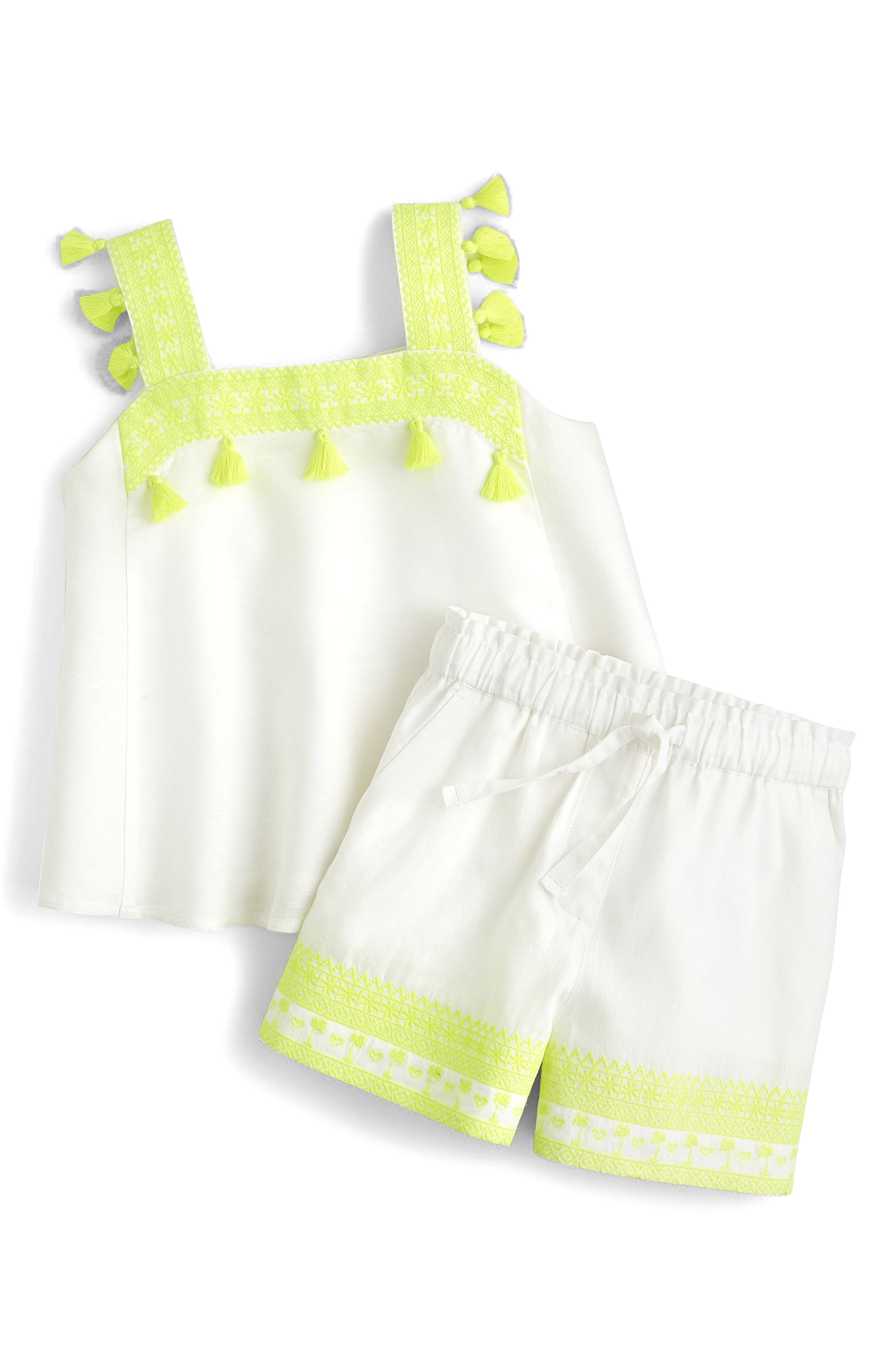 Skirty Embroidered Shorts,                             Alternate thumbnail 2, color,                             White