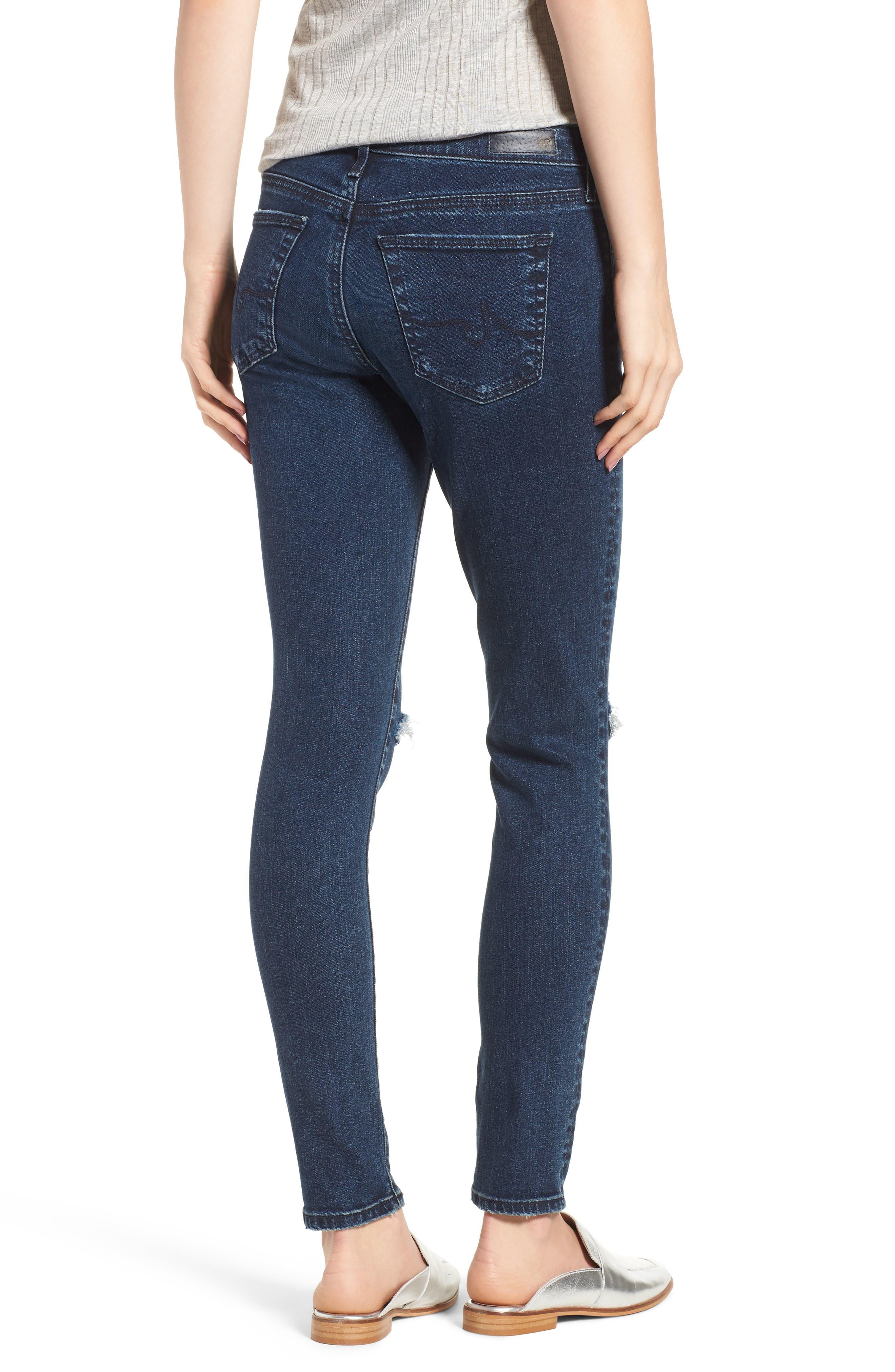 The Legging Ankle Super Skinny Jeans,                             Alternate thumbnail 2, color,                             Ethereal