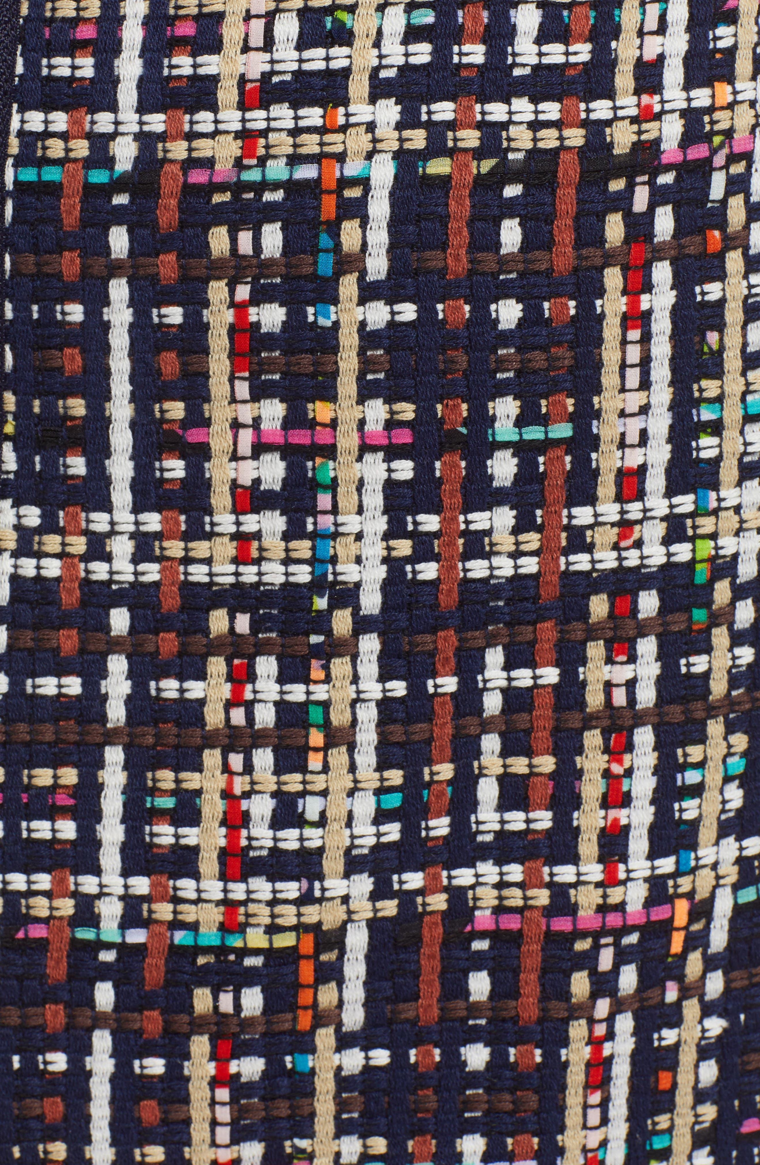 Tweed Mini Skirt,                             Alternate thumbnail 5, color,                             Navy Multi Tweed