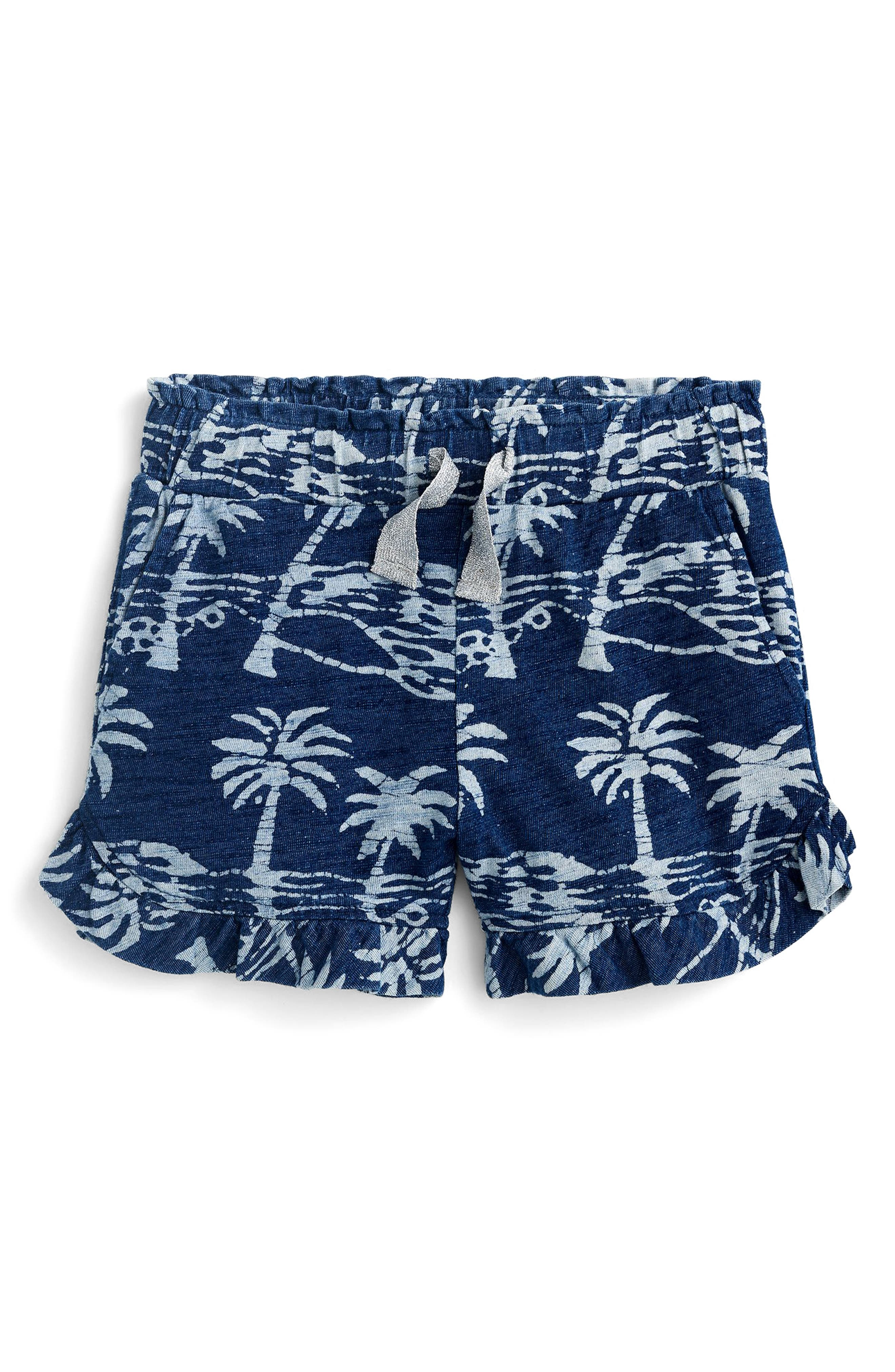 crewcuts by J. Crew Paulette Palm Print Ruffle Shorts (Toddler Girls, Little Girls & Big Girls)