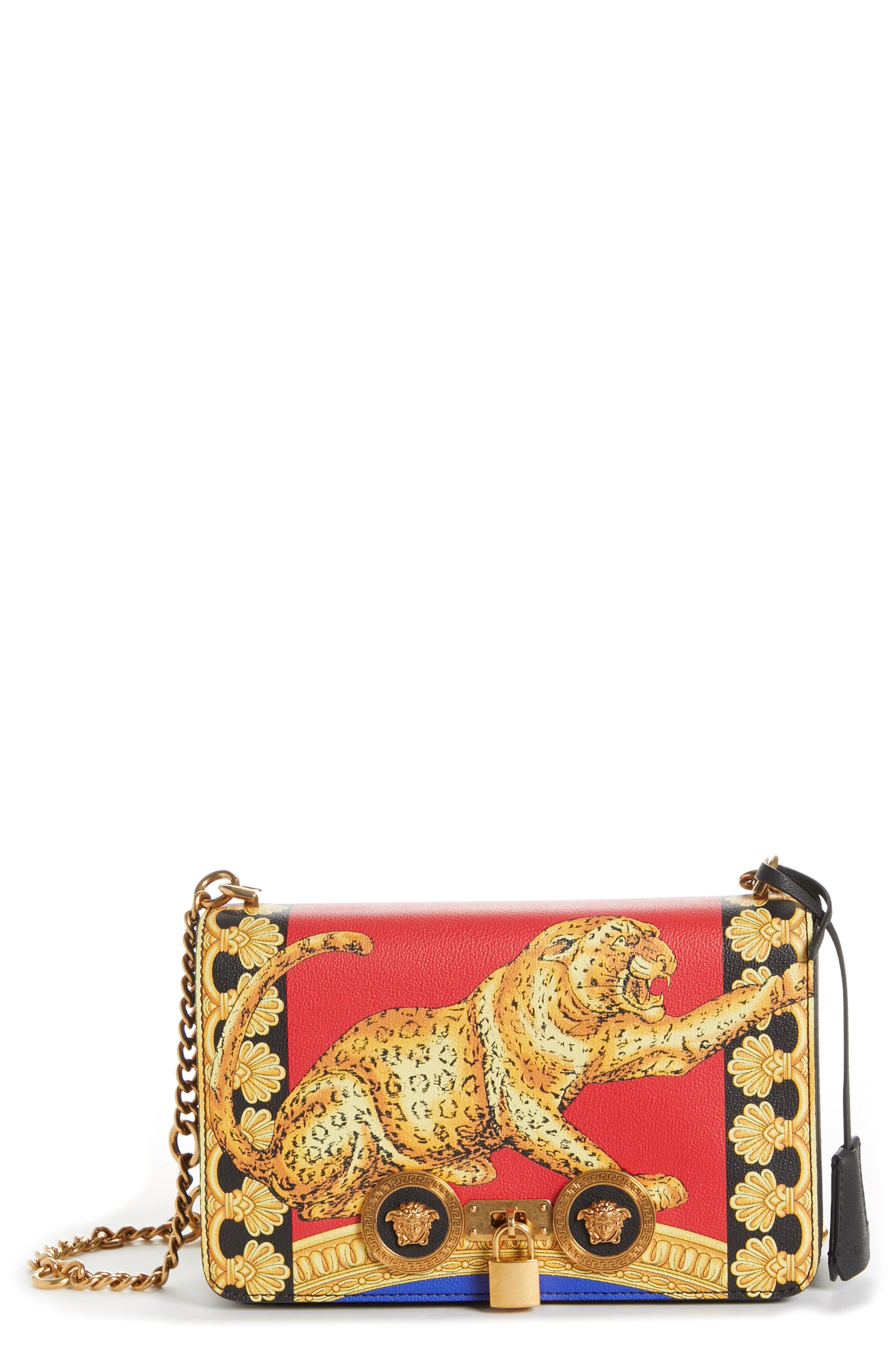 Versace Medium Icon Leather Crossbody Bag