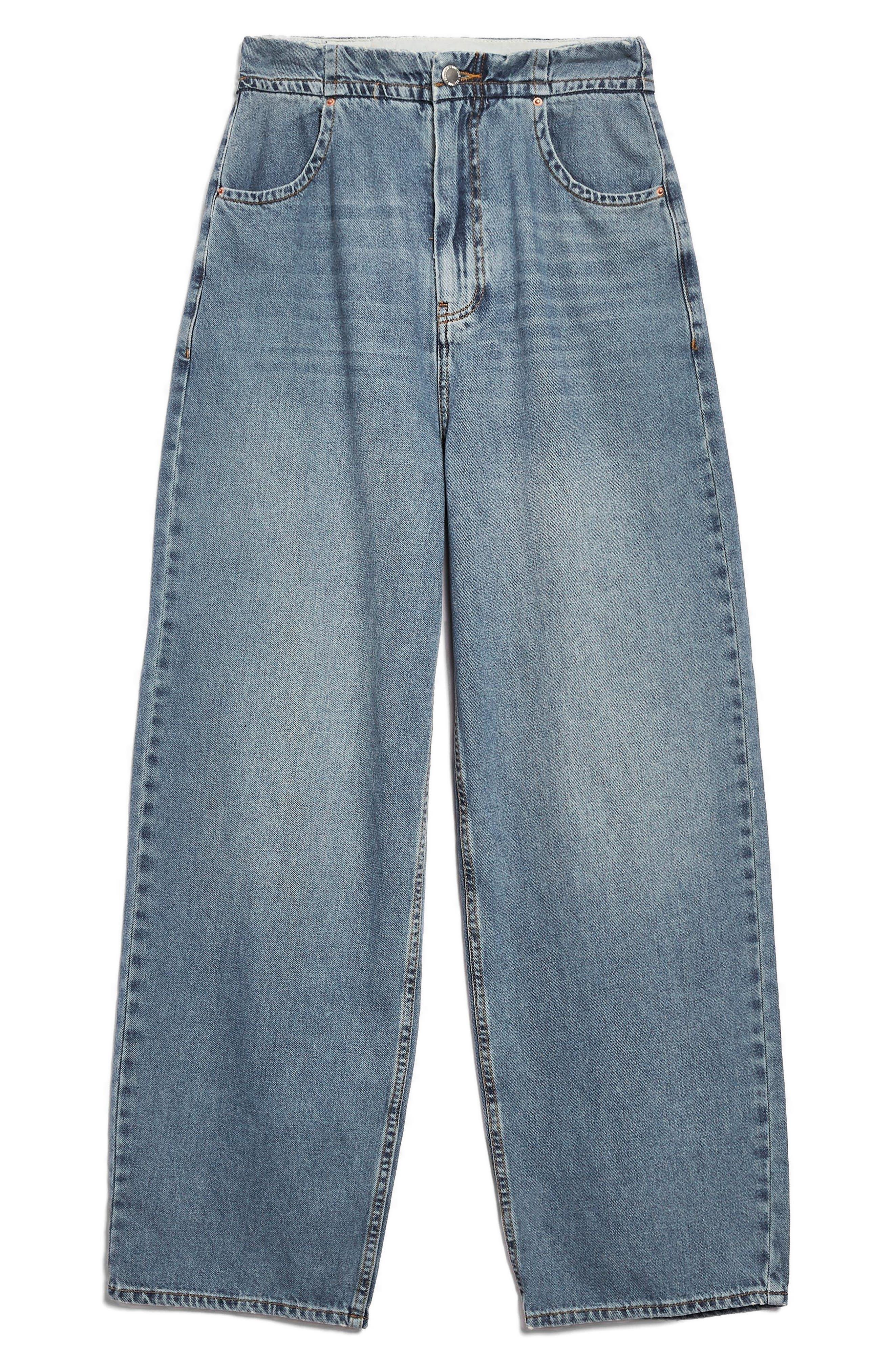 Slouch Cinch Jeans,                             Alternate thumbnail 6, color,                             Blue
