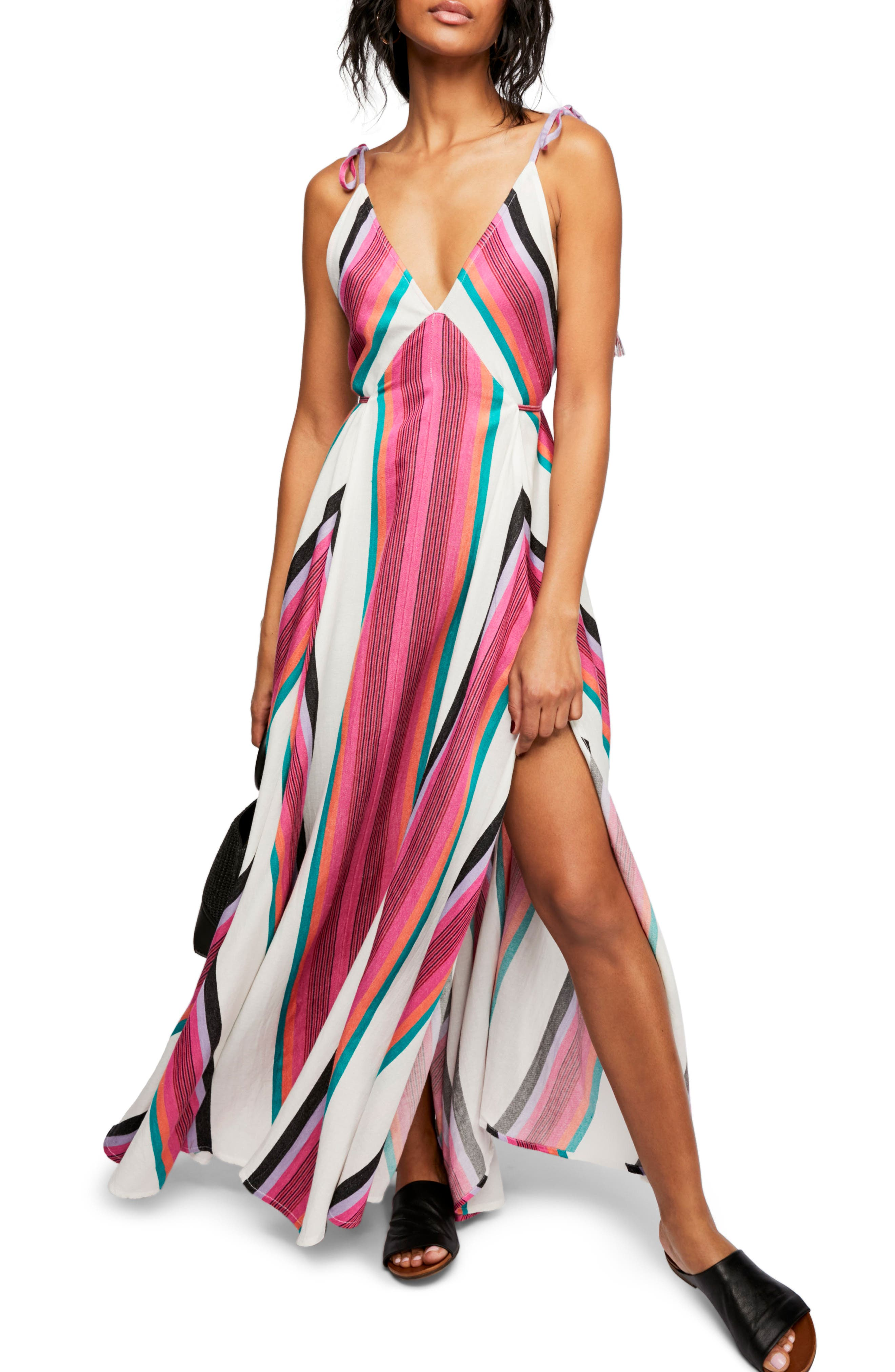 Endless Summer by Free People Neon Lights Maxi Dress,                             Main thumbnail 1, color,                             Assort