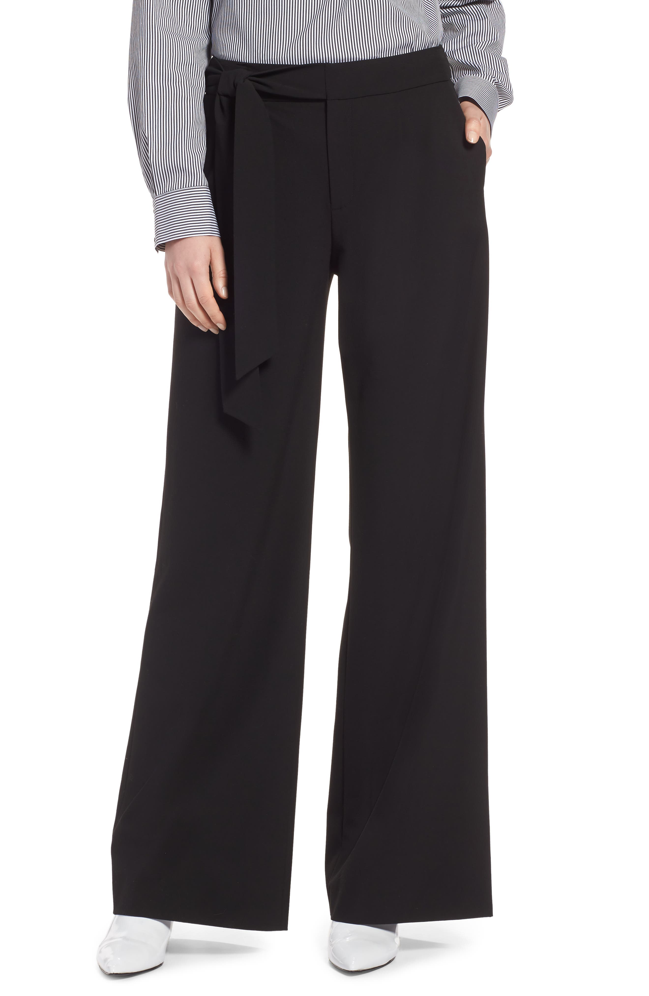 Tie Waist Wide Leg Stretch Crepe Pants $53.4 (Nordstrom)