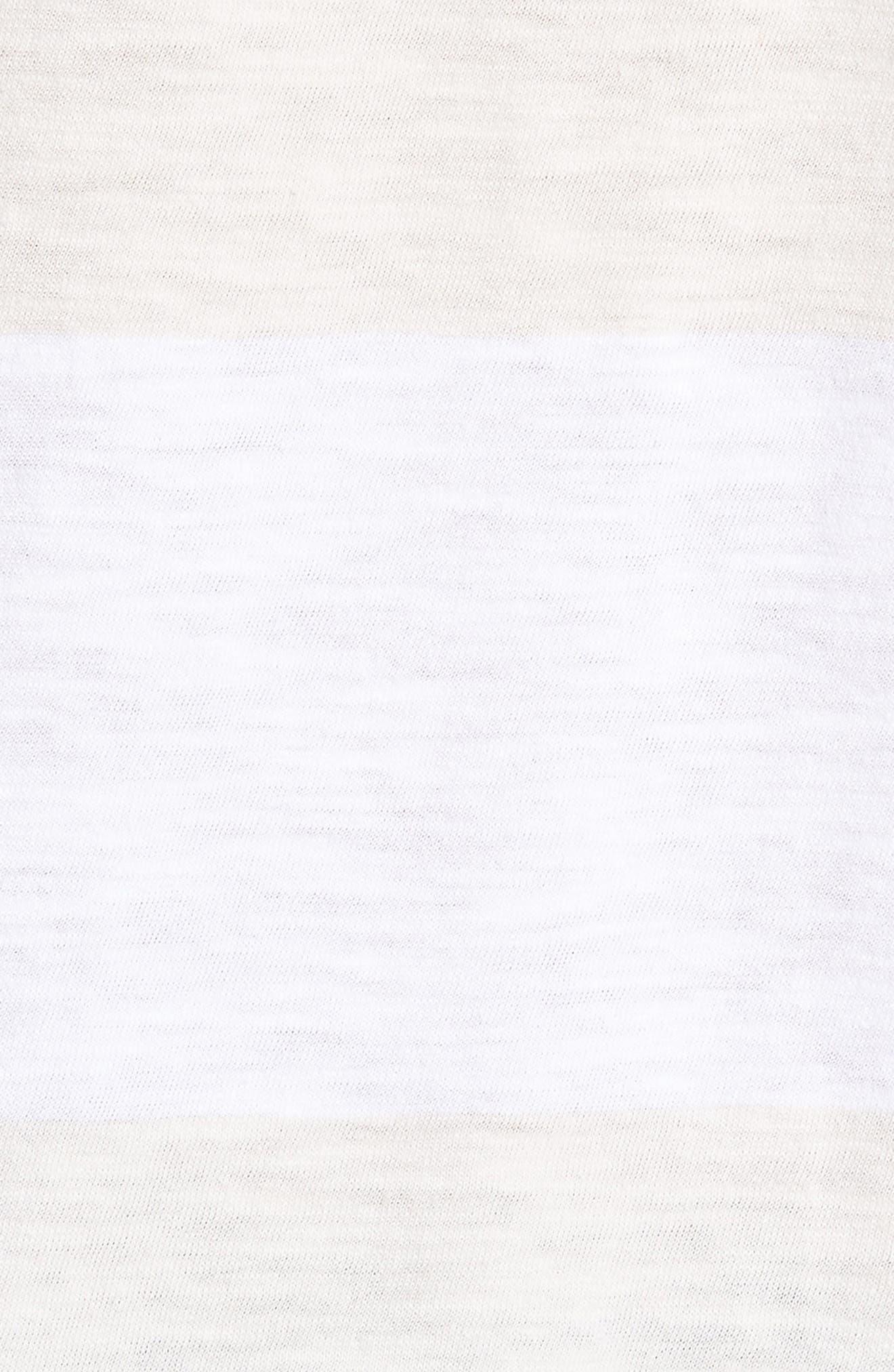 Block Stripe Slim Fit Pocket T-Shirt,                             Alternate thumbnail 5, color,                             White/ Seashell