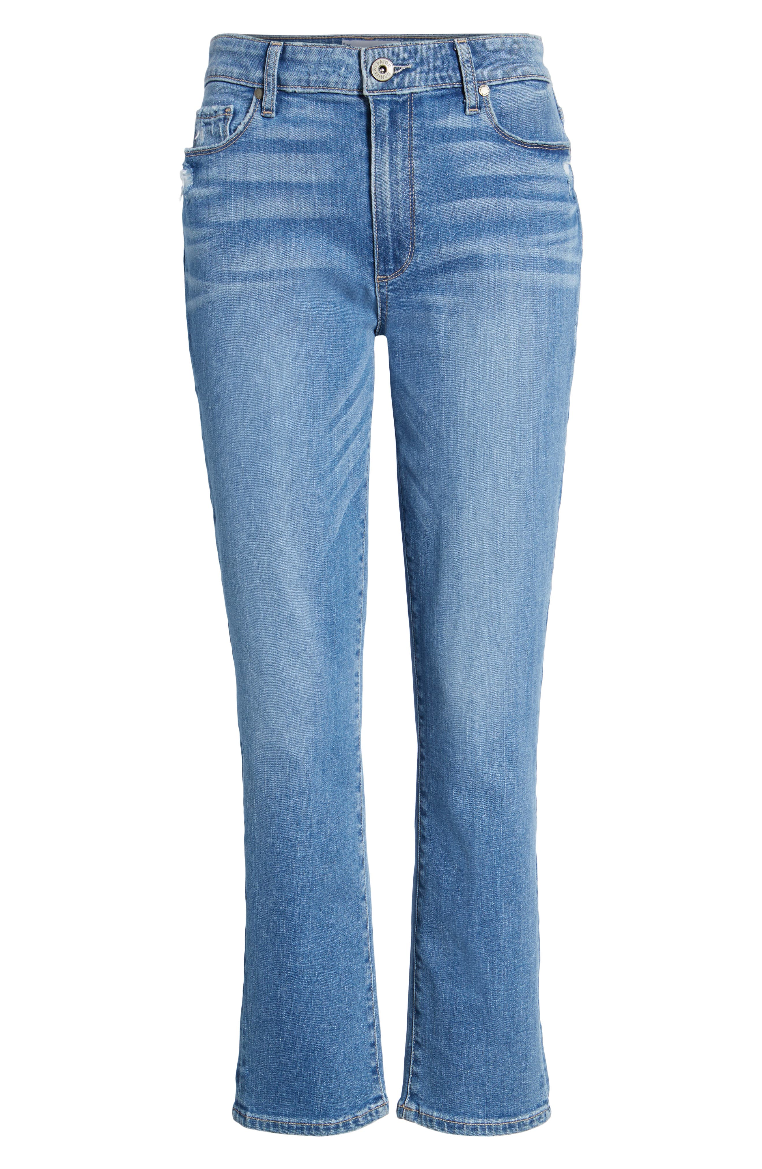 Transcend Vintage - Jimmy Jimmy High Waist Crop Boyfriend Jeans,                             Alternate thumbnail 7, color,                             Vintage Venice