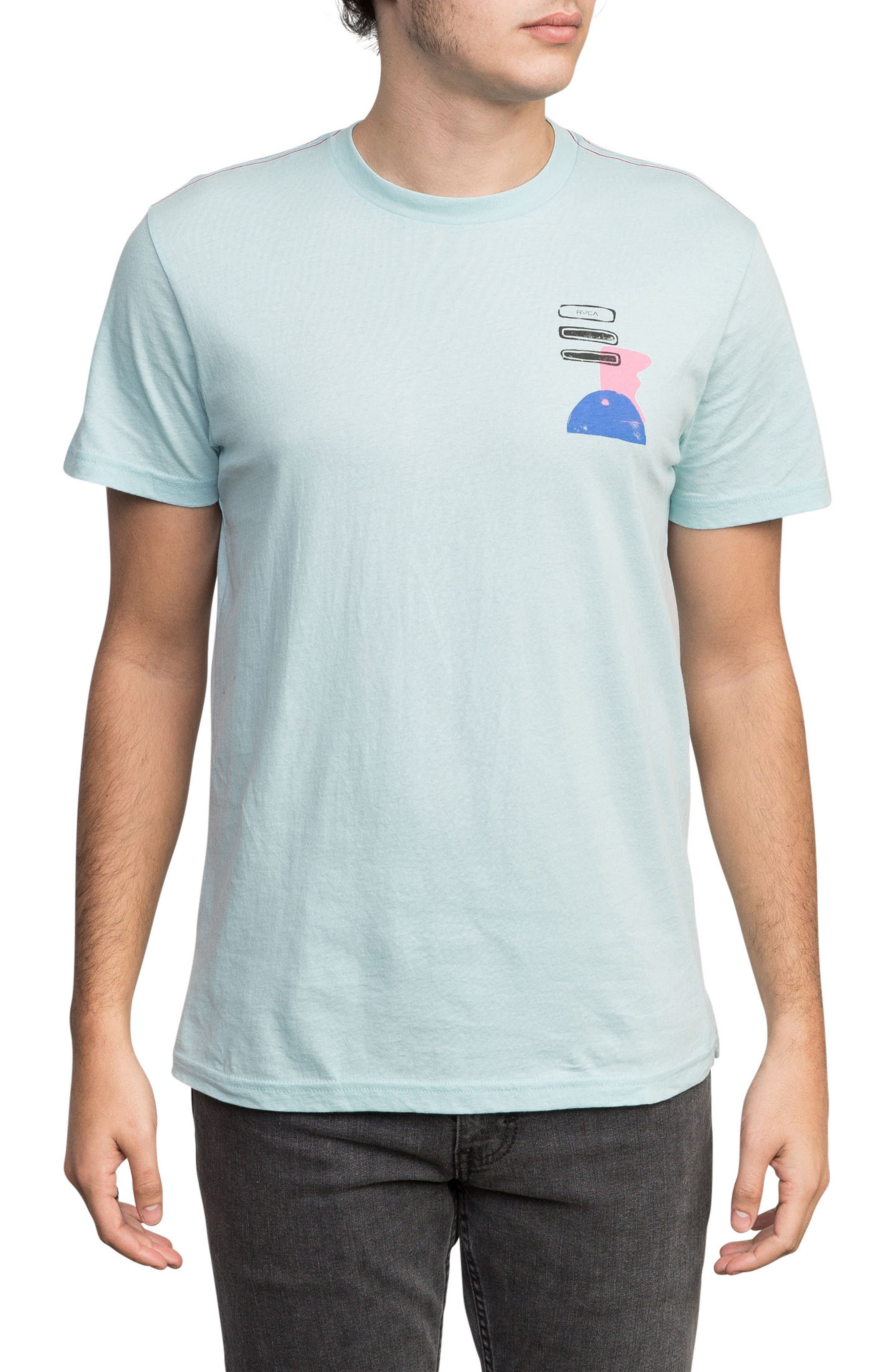 Block Print T-Shirt,                             Main thumbnail 1, color,                             Cosmos