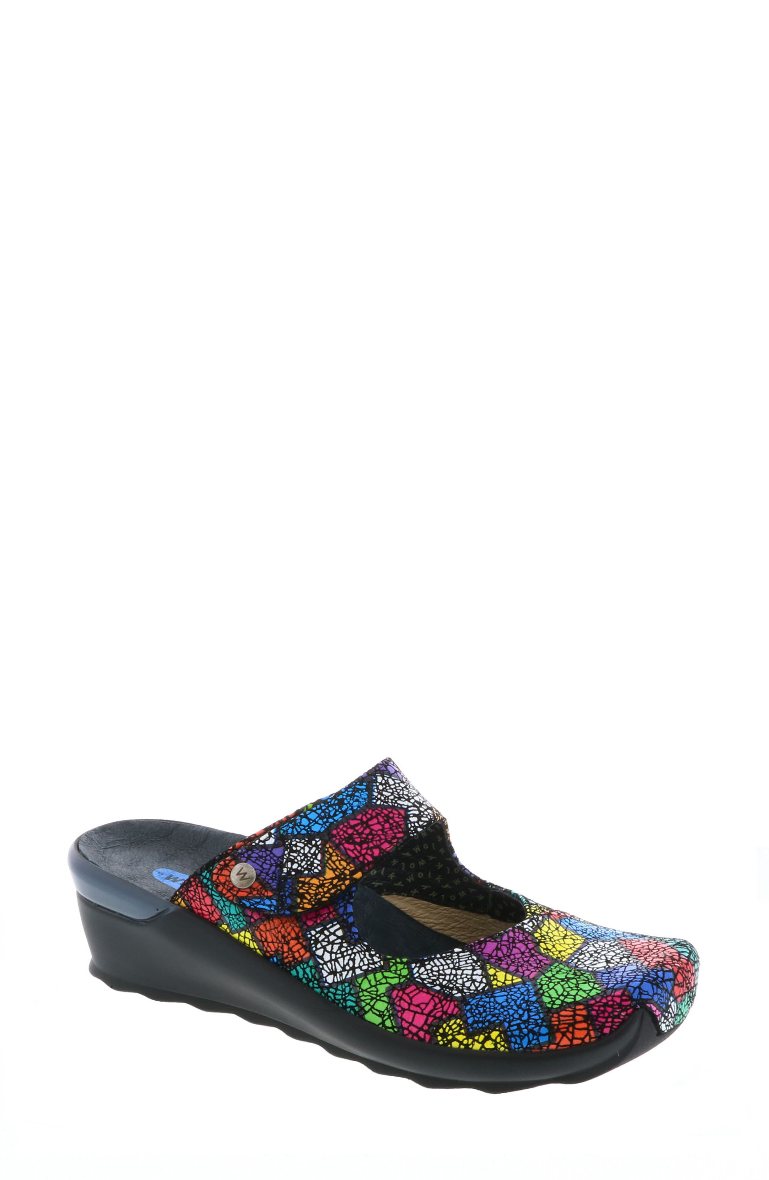 'Up' Mary Jane Clog,                         Main,                         color, Multi Picasso