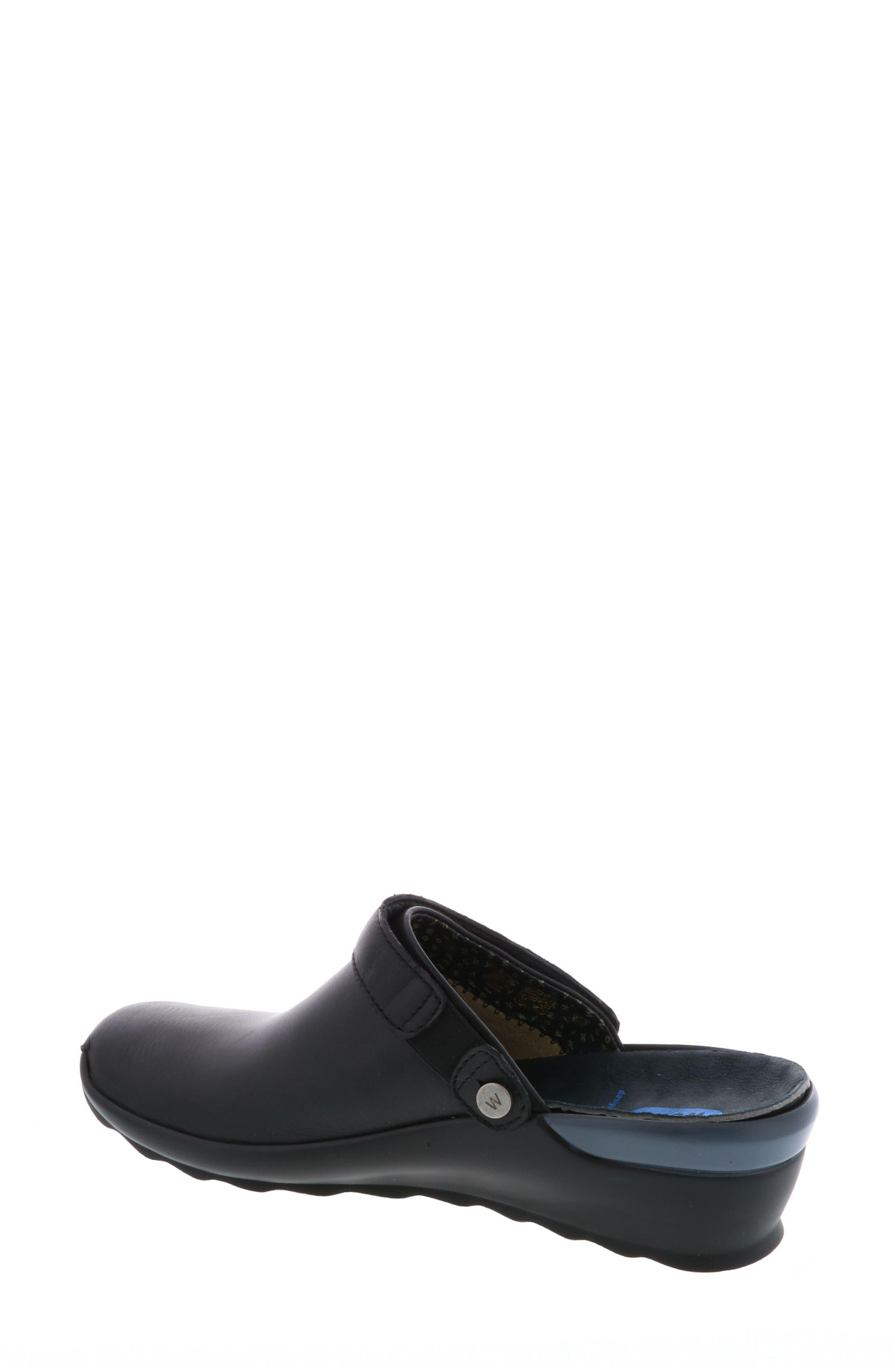 Bi Clog,                             Alternate thumbnail 2, color,                             Black Velvet Leather