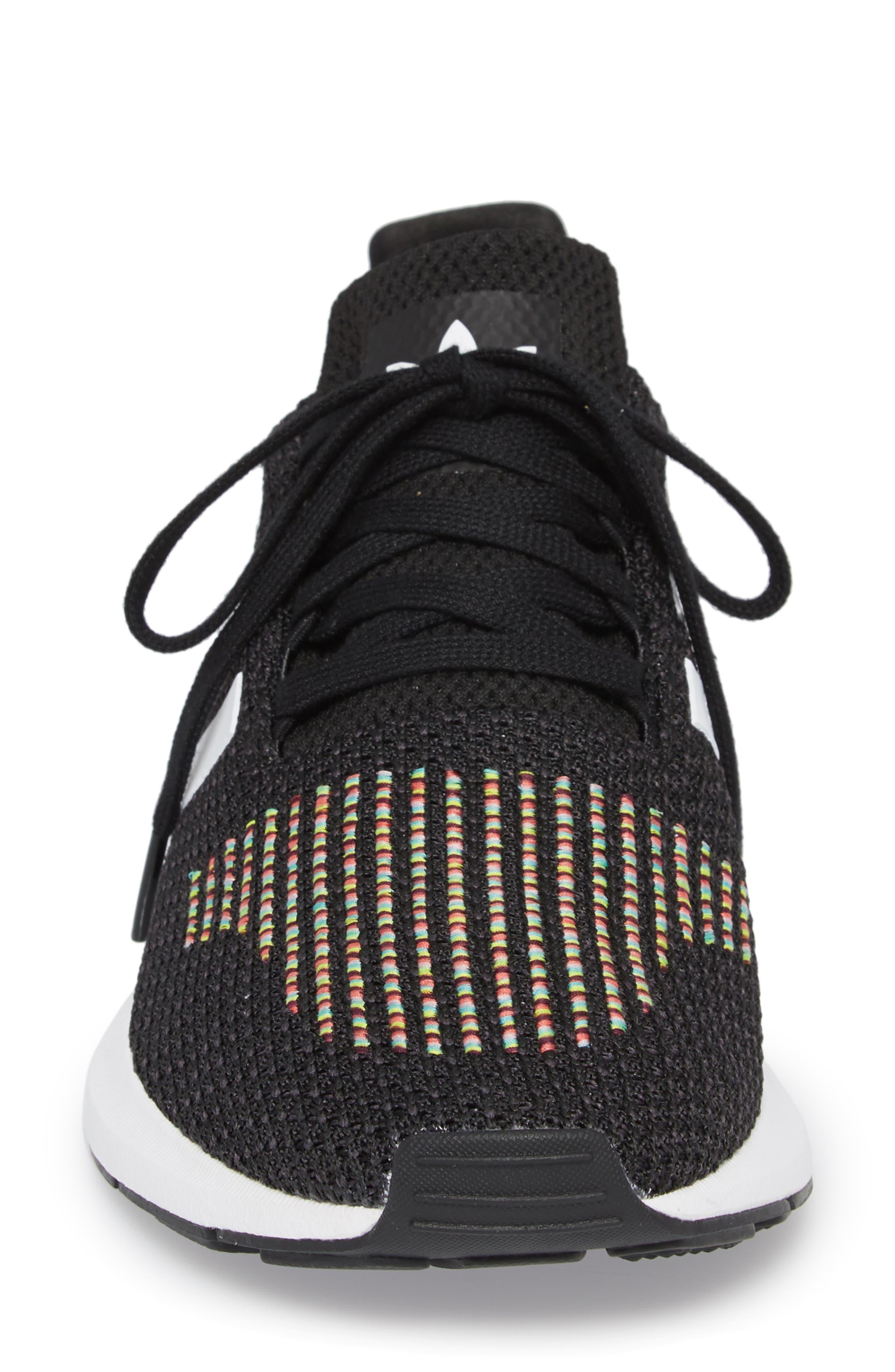 Swift Run Sneaker,                             Alternate thumbnail 4, color,                             Core Black/ White/ Core Black