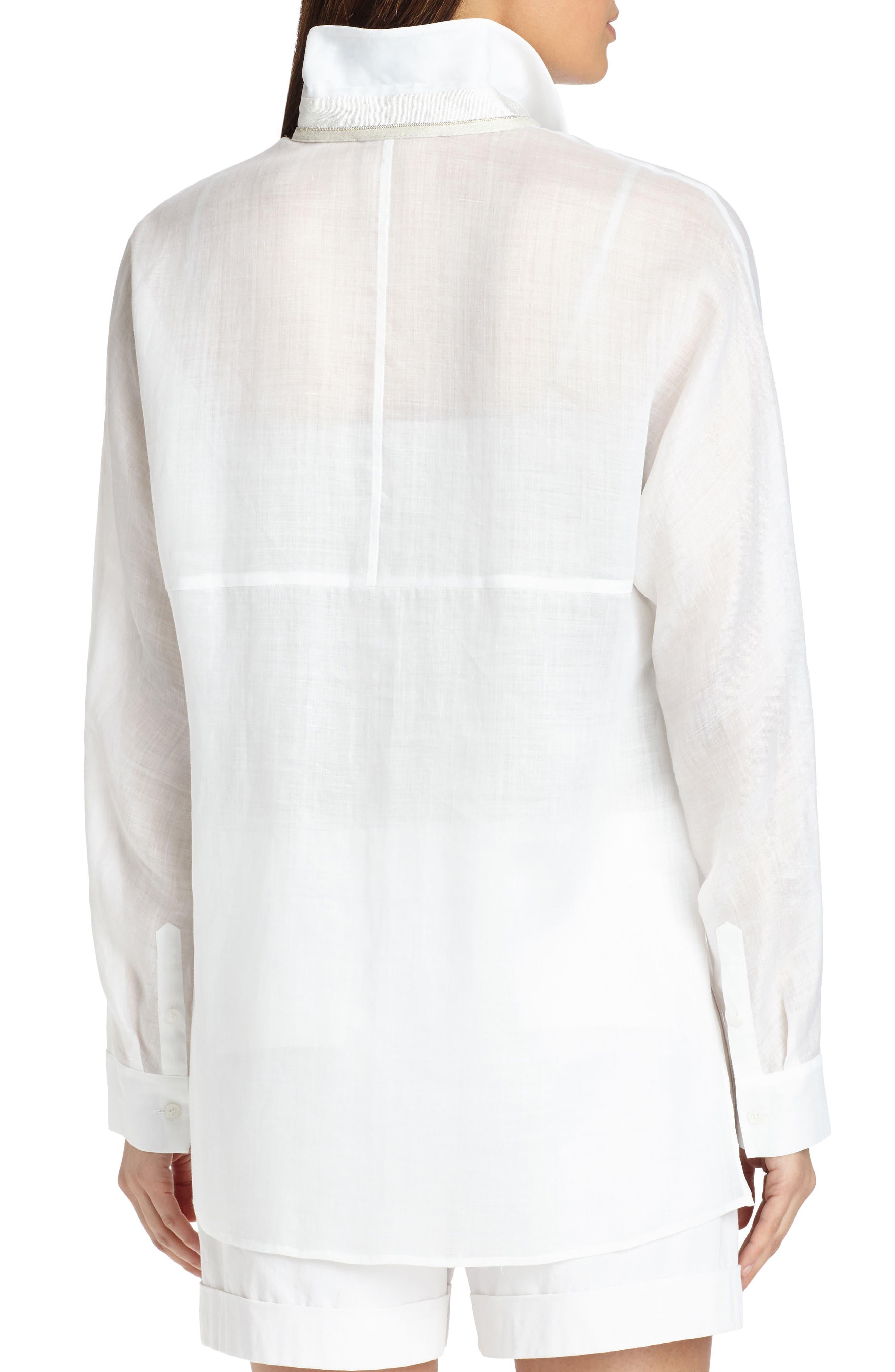 Alyssa Gemma Cloth Blouse,                             Alternate thumbnail 2, color,                             White