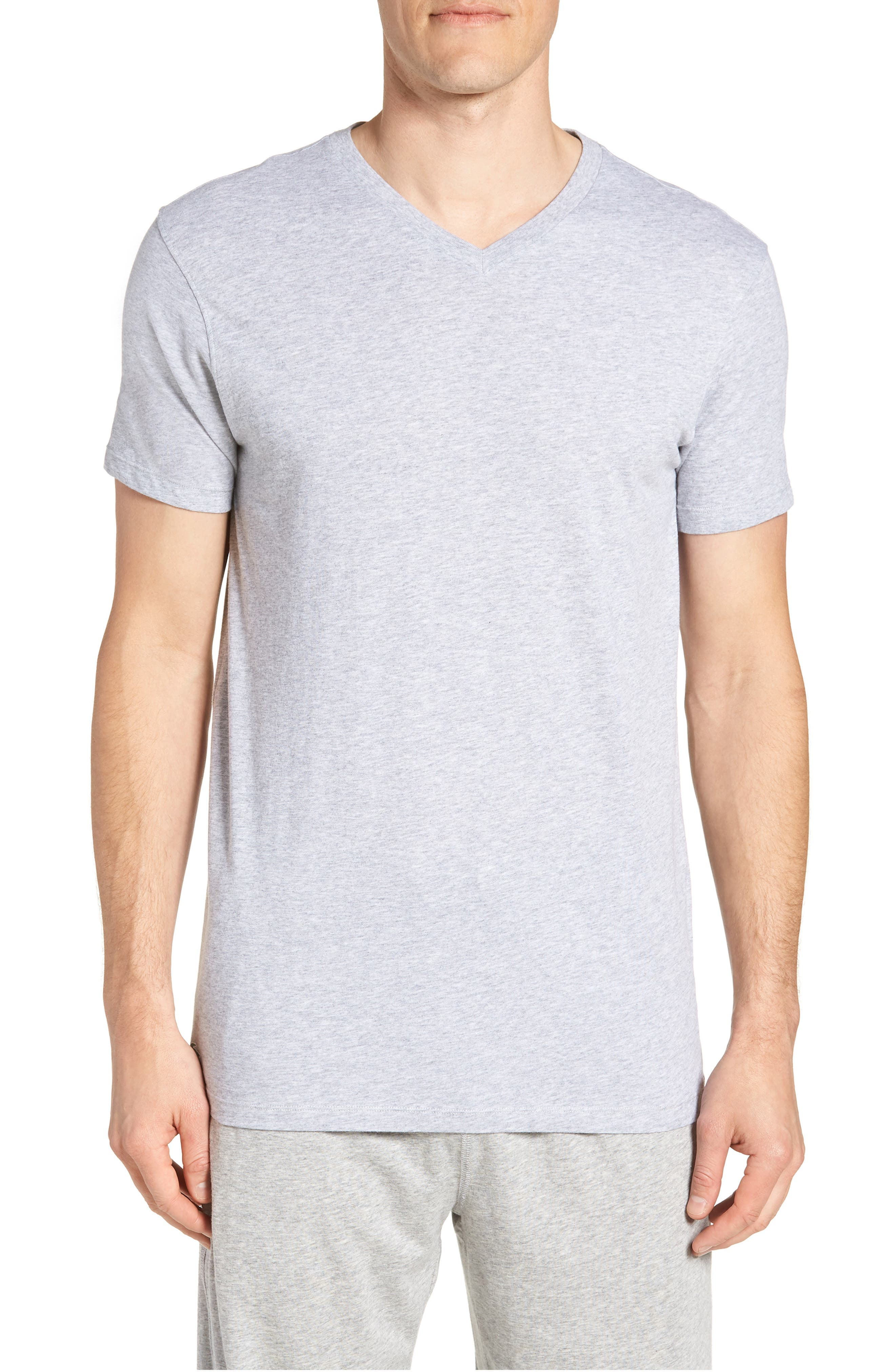 Assorted 3-Pack Supima<sup>®</sup> Cotton V-Neck T-Shirts,                             Alternate thumbnail 2, color,                             Black/ Grey/ White