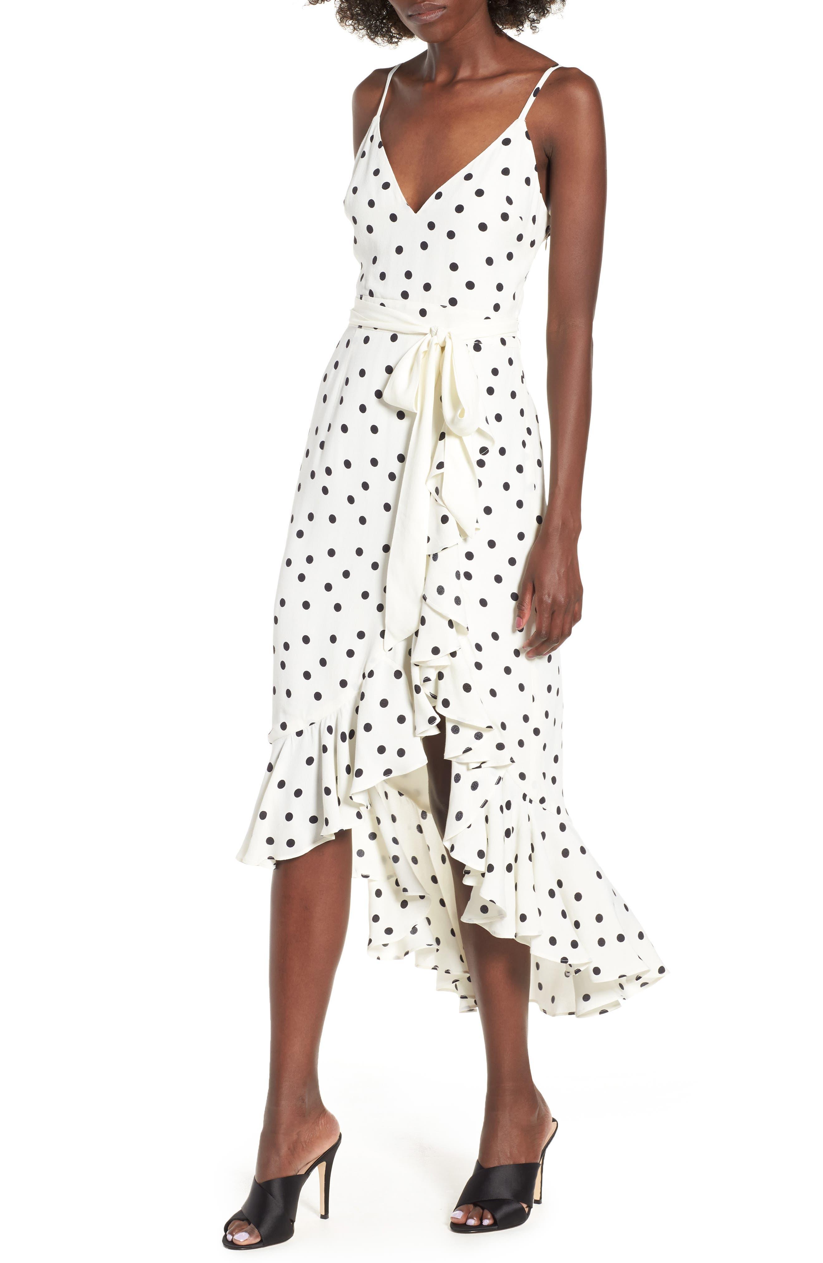 Bridget Midi Dress,                         Main,                         color, Ivory/ Black