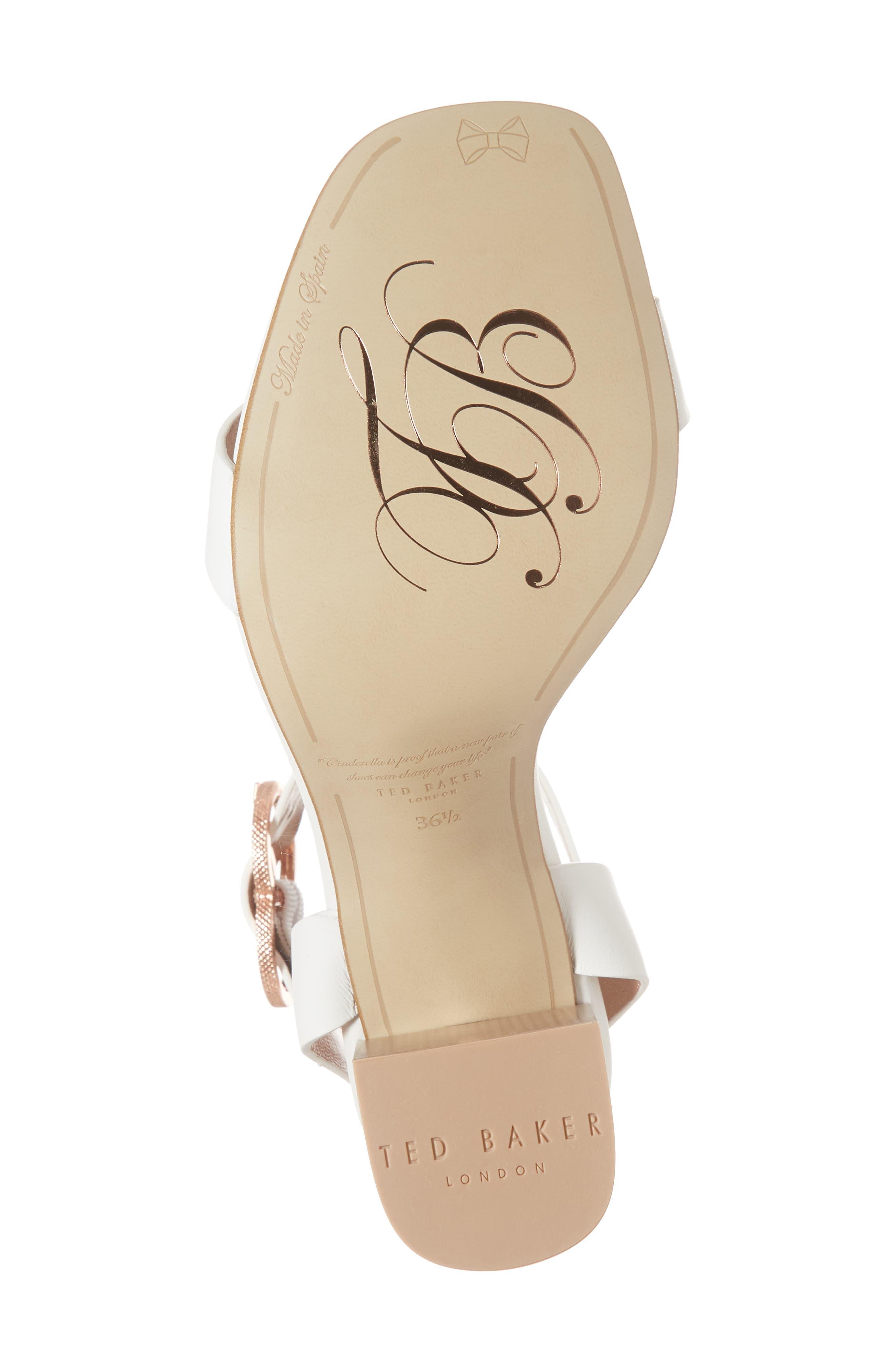 Vallama Block Heel Sandal,                             Alternate thumbnail 6, color,                             White Leather