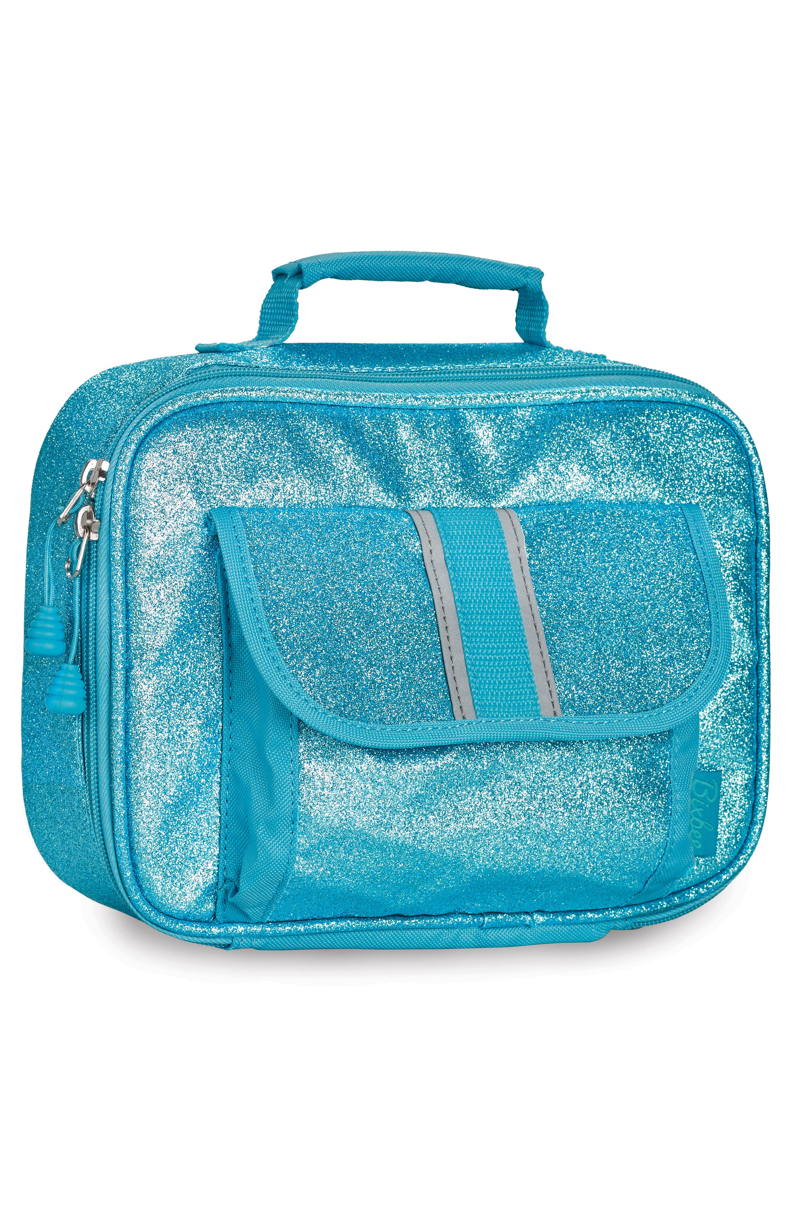Sparkalicious Water Resistant Lunch Box,                             Alternate thumbnail 2, color,                             Turquoise