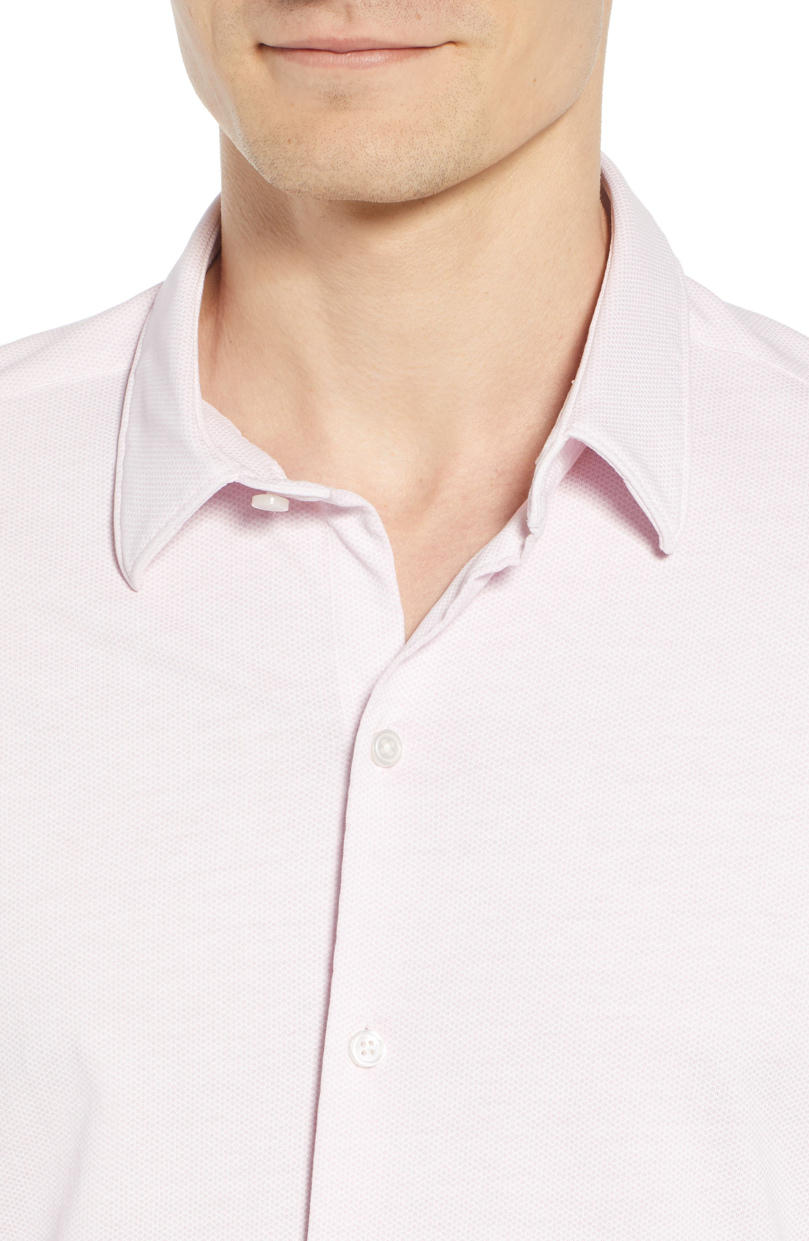 Robb Trim Fit Jersey Sport Shirt,                             Alternate thumbnail 2, color,                             Pink