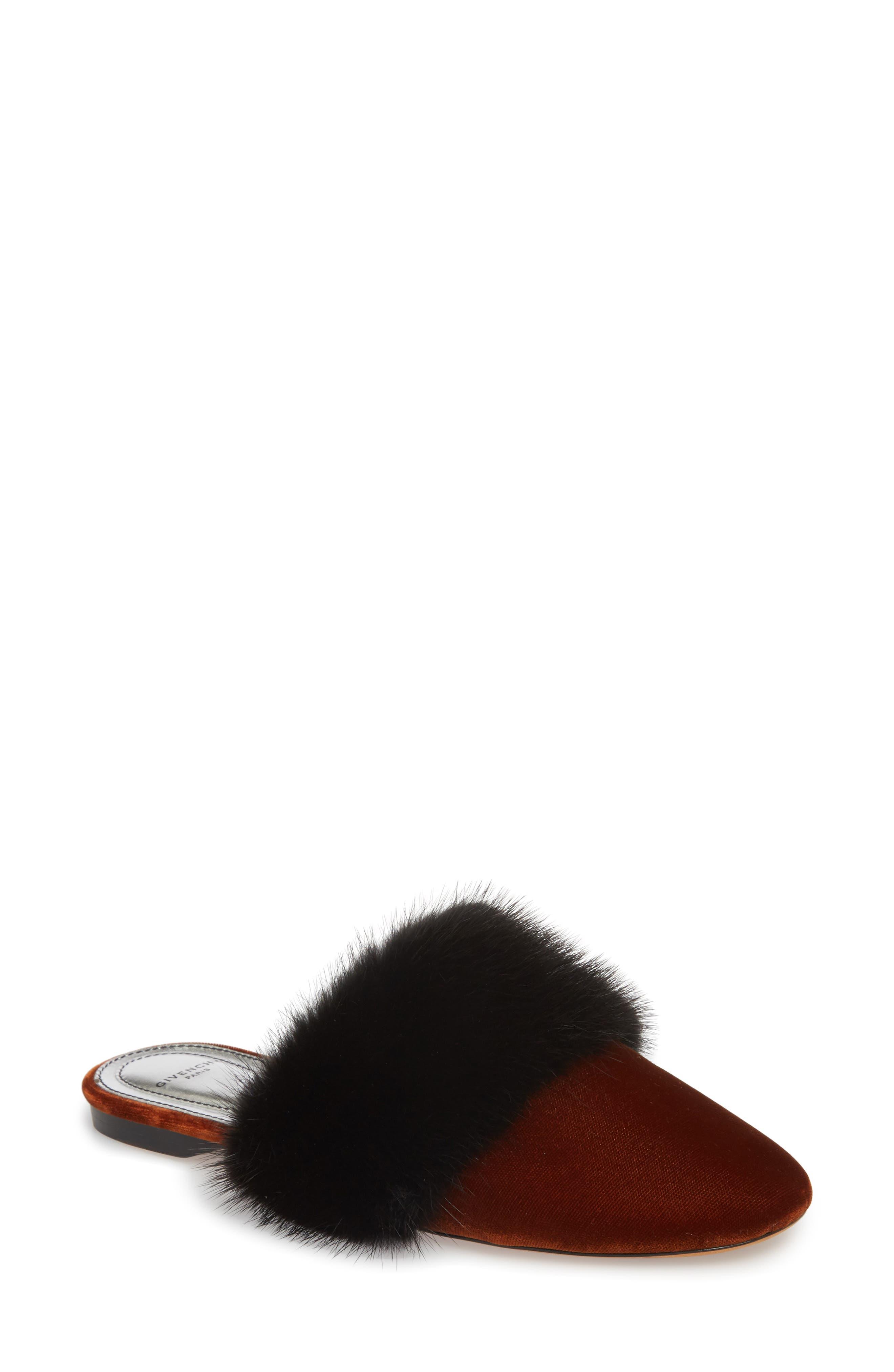 Givenchy Bedford Genuine Mink Fur Mule (Women)