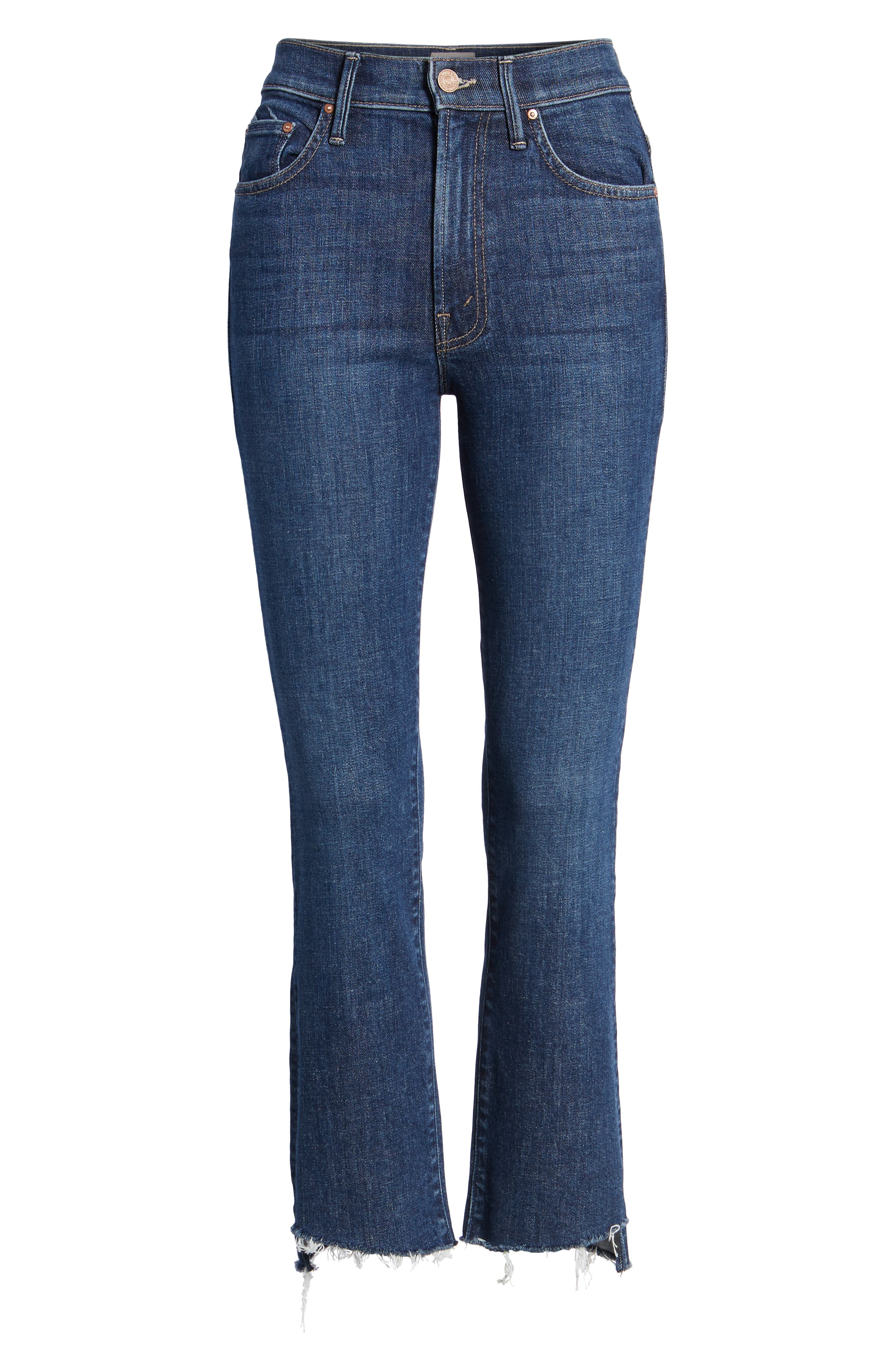 'The Insider' Crop Step Fray Jeans,                             Alternate thumbnail 6, color,                             Crushing It