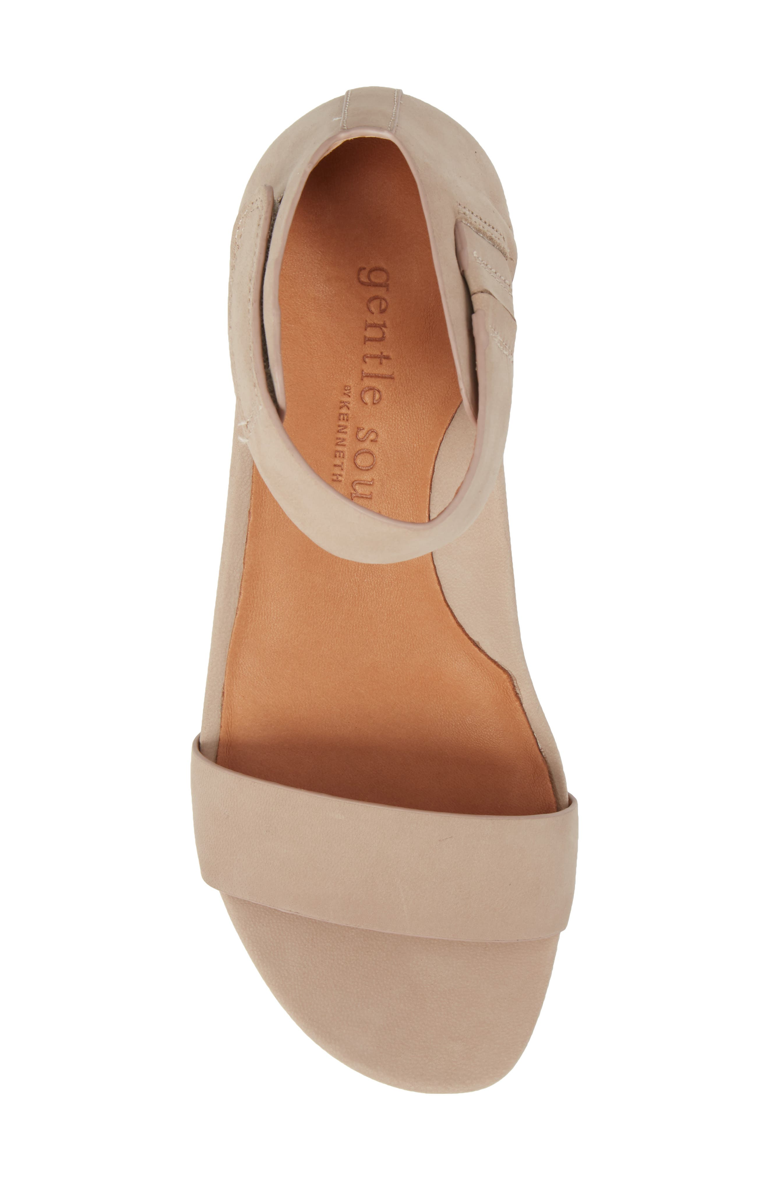 by Kenneth Cole Gianna Wedge Sandal,                             Alternate thumbnail 5, color,                             Mushroom Nubuck