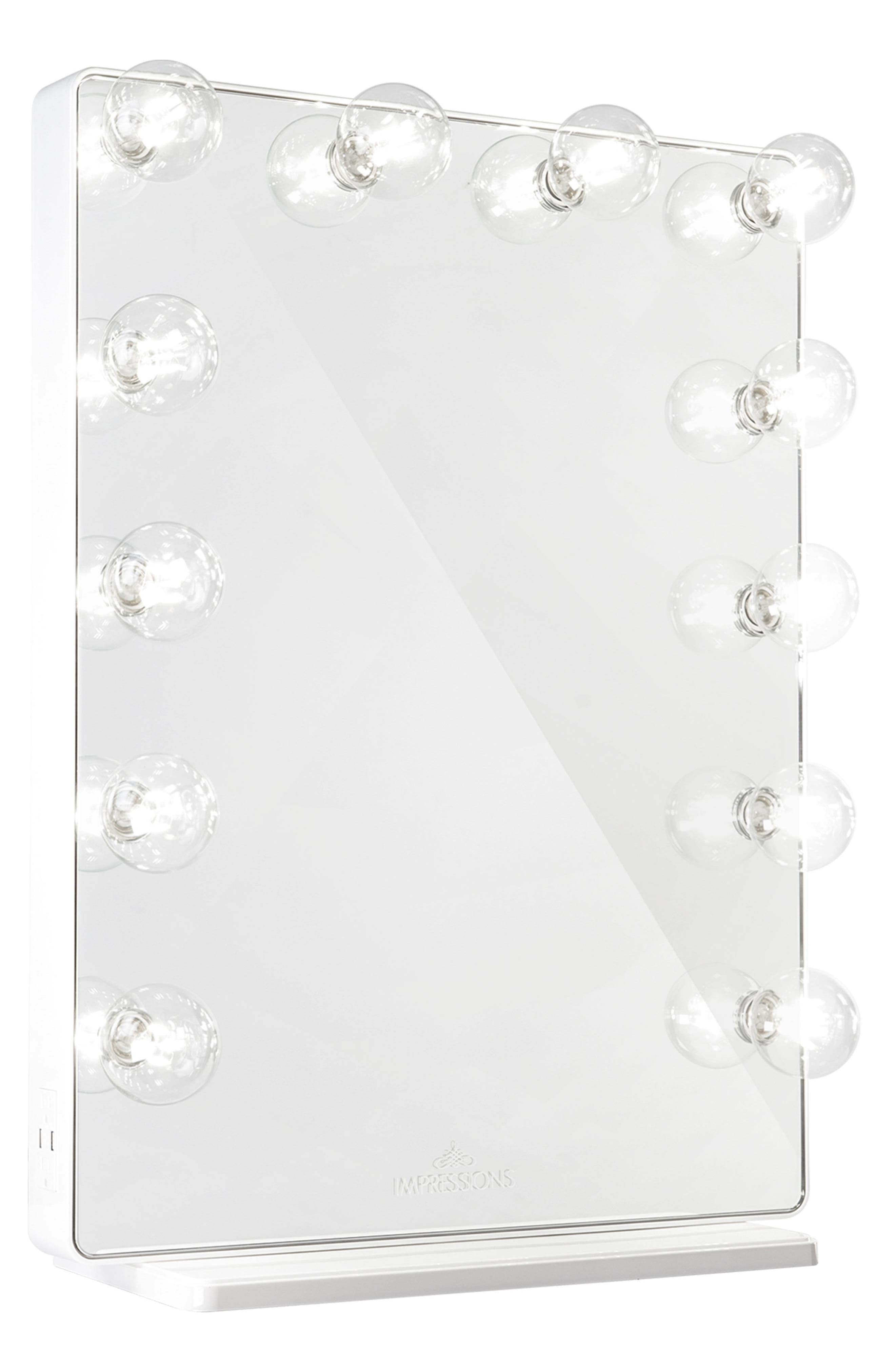 Hollywood Glow<sup>®</sup> XL 2.0 Vanity Mirror,                             Main thumbnail 1, color,                             White